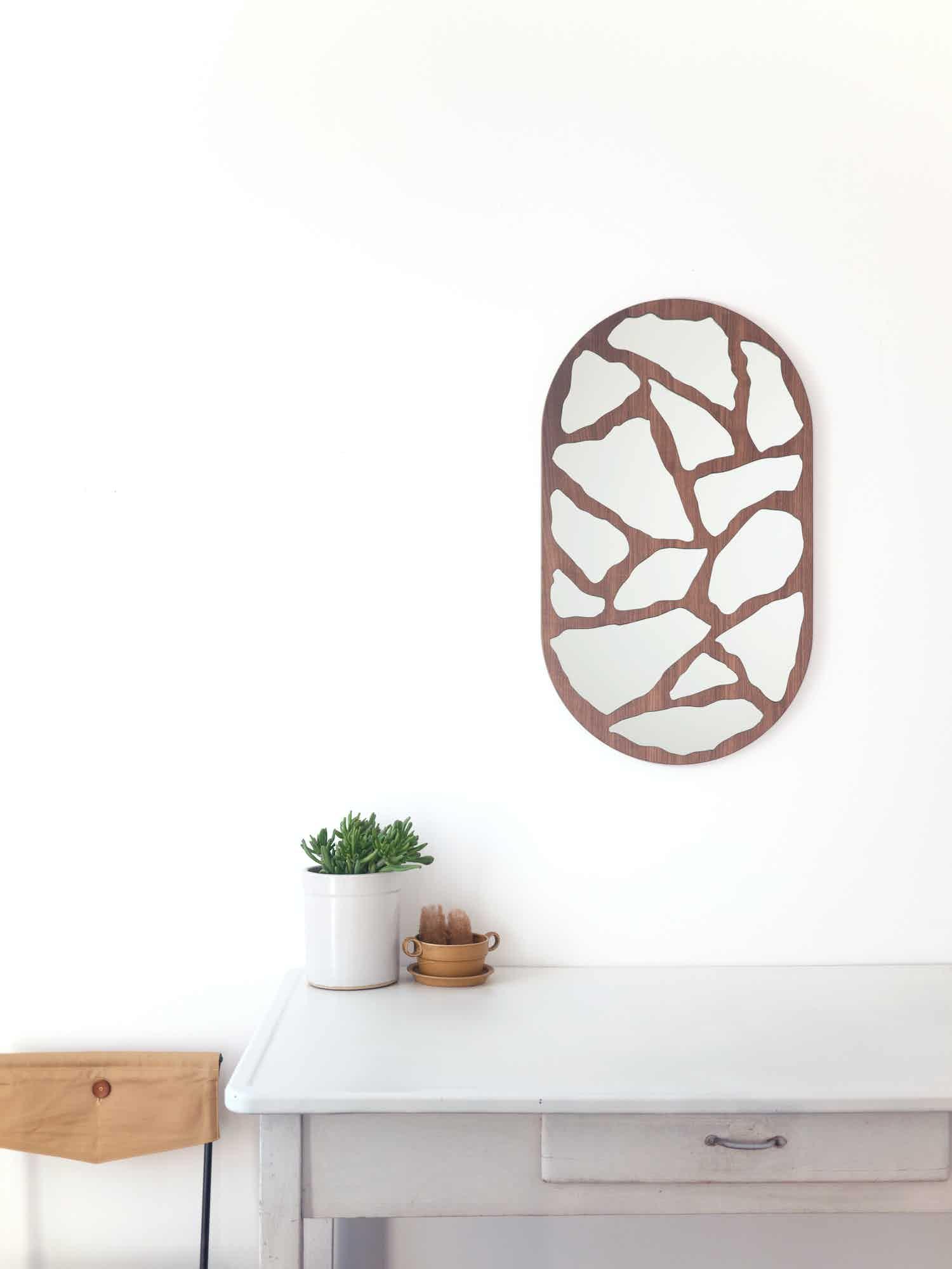 Walnut #3000 Mirror by Trueing | Haute Living