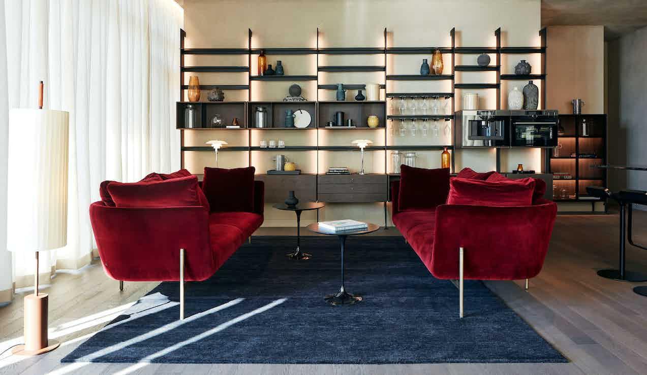 Bensen Loft Sofa Red HL