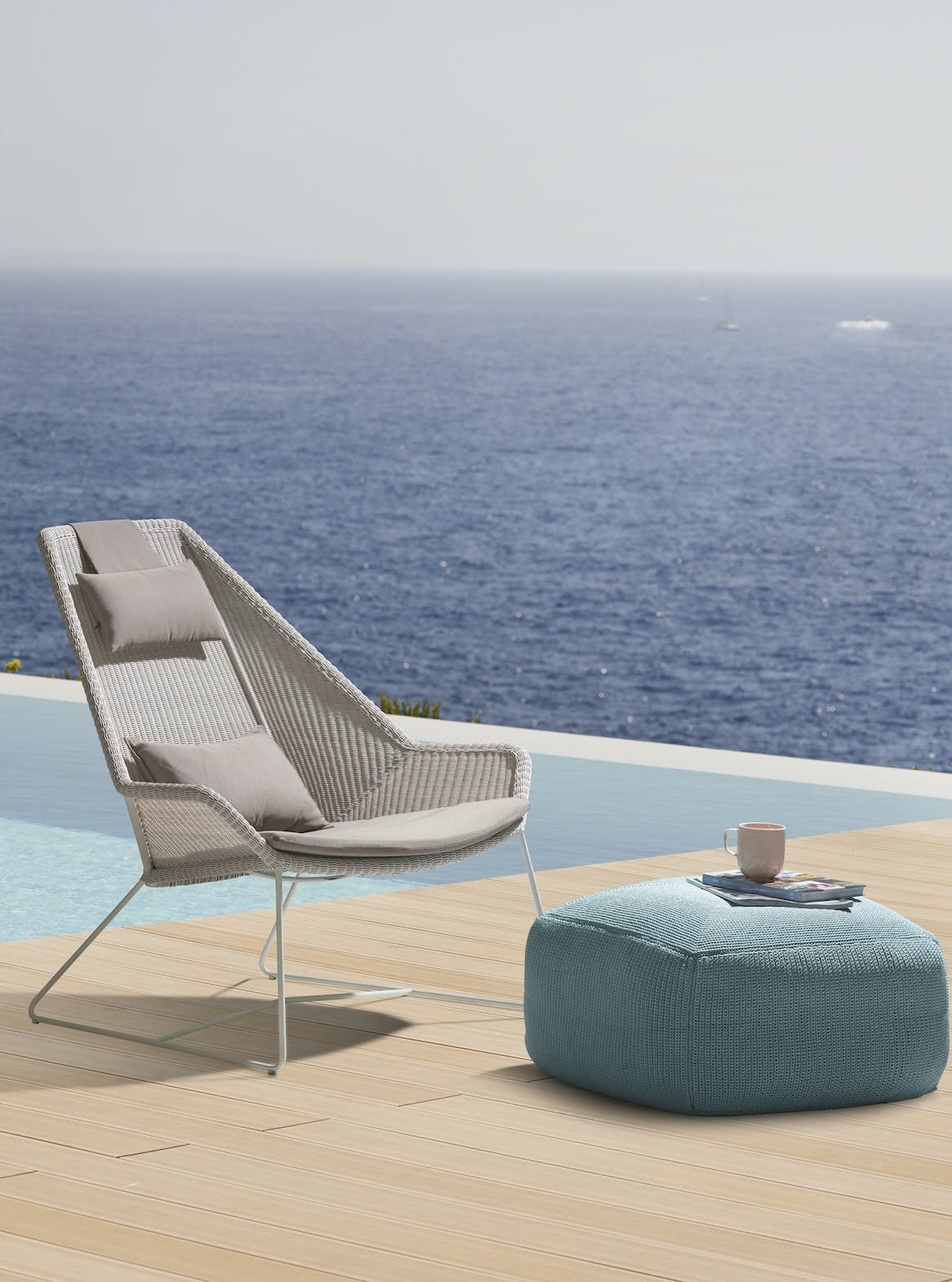 Breeze Highback Chair White Grey Divine Footstool 1 Copy