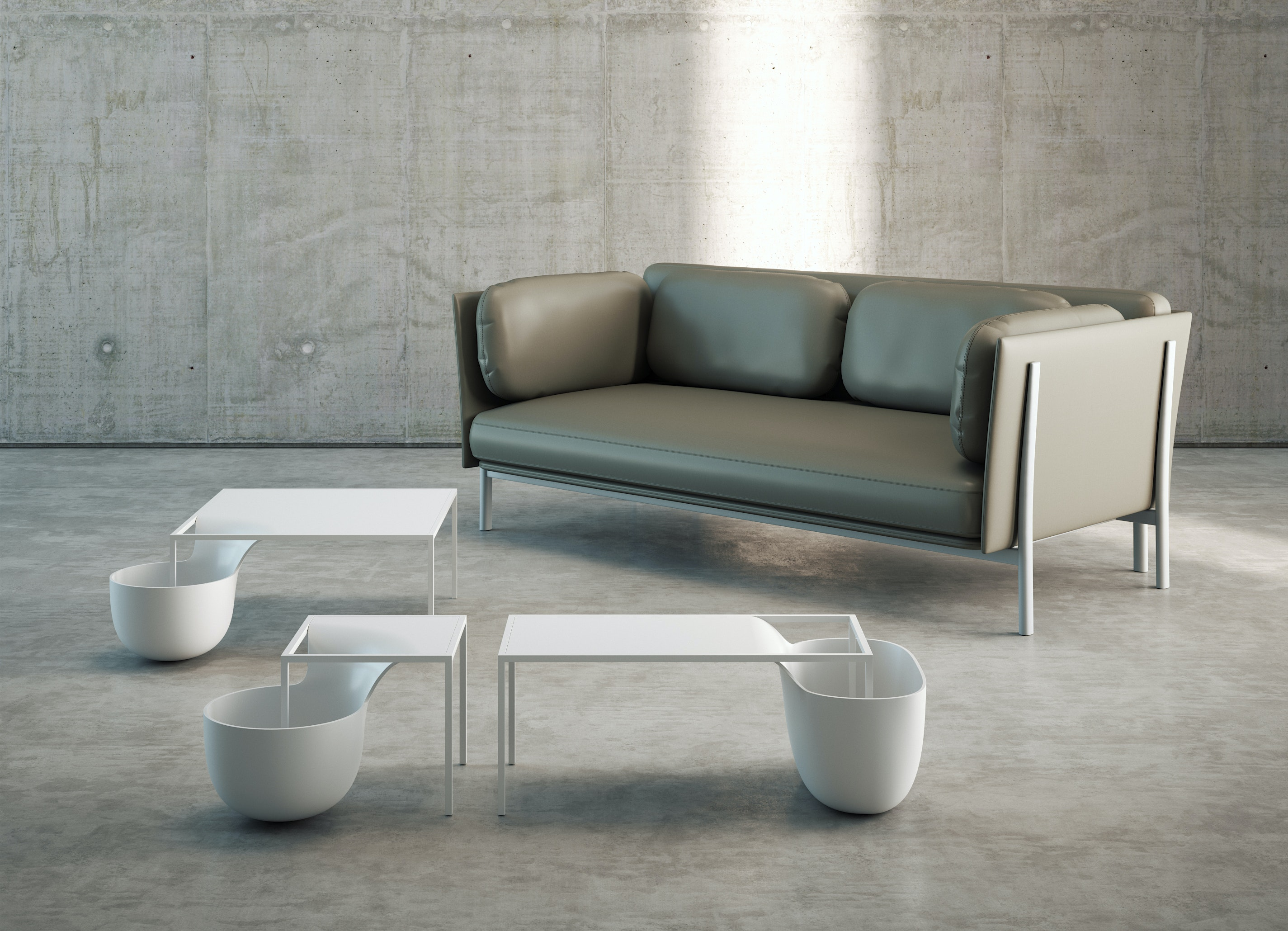 Flow Bowl Table by Alias
