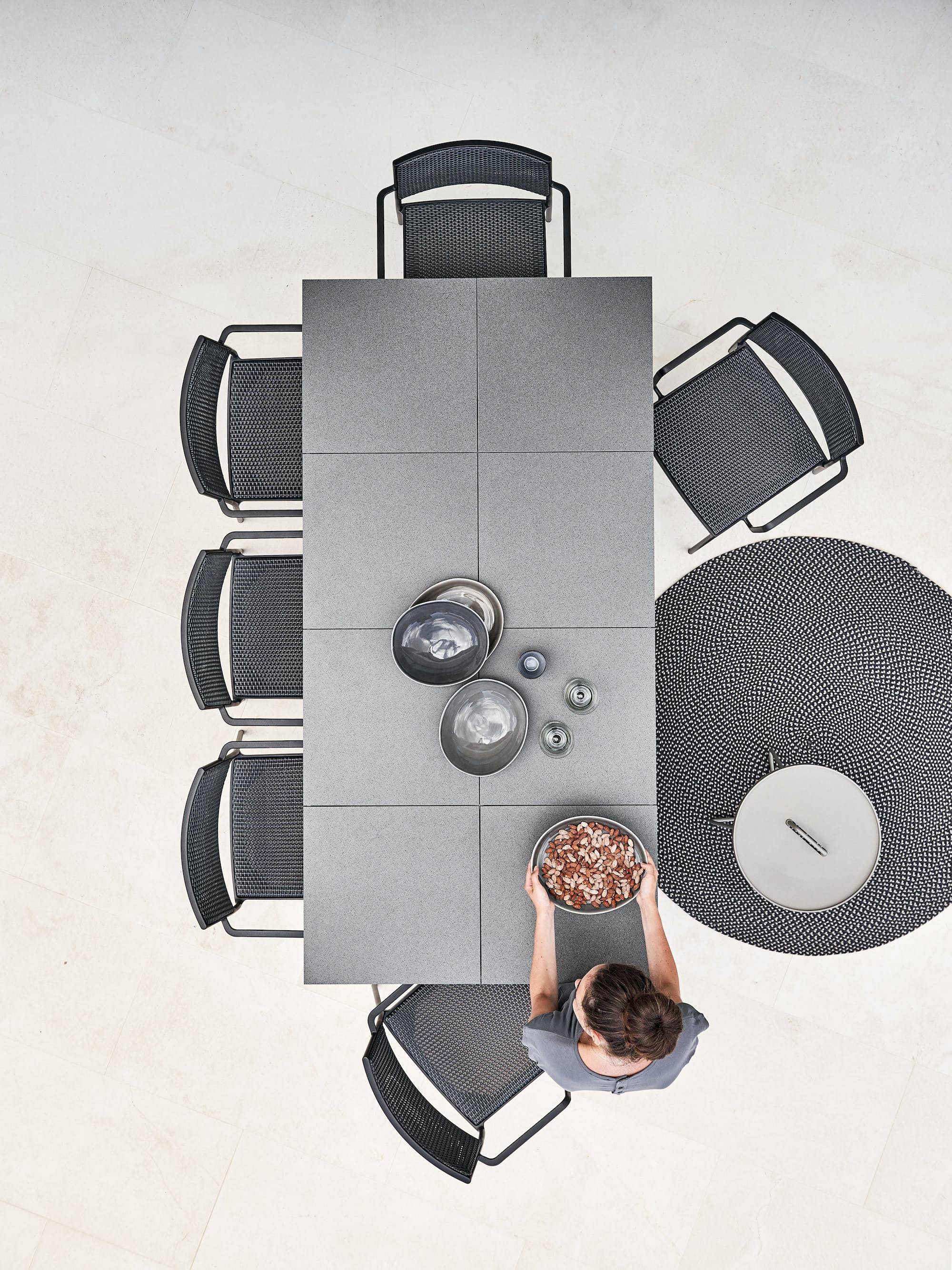 Less Chair Lavagrey Weave Pure Table Tiles Defined On The Move