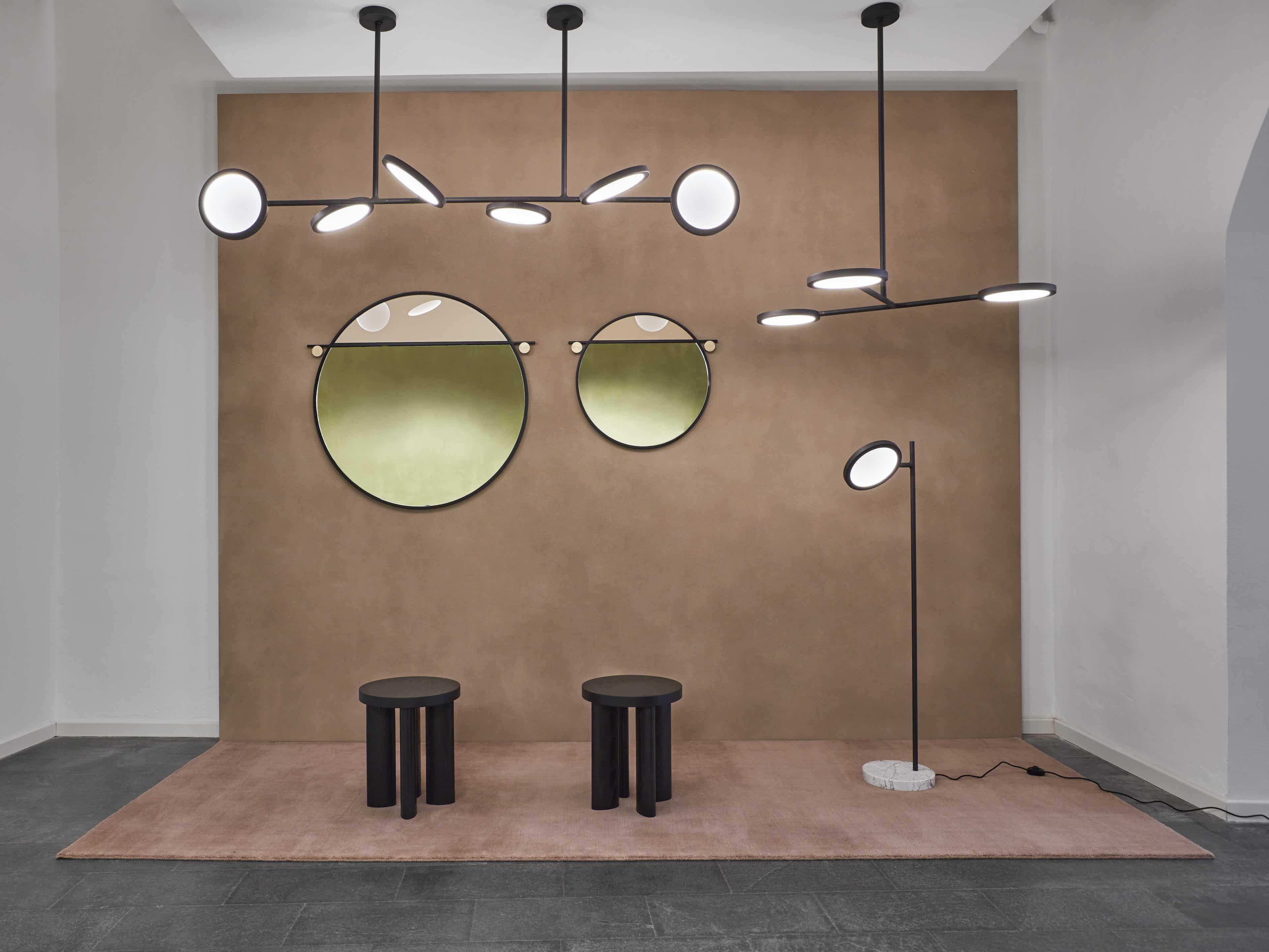 Matter Made Discus Lights Abal Mirrors Orbit Stools