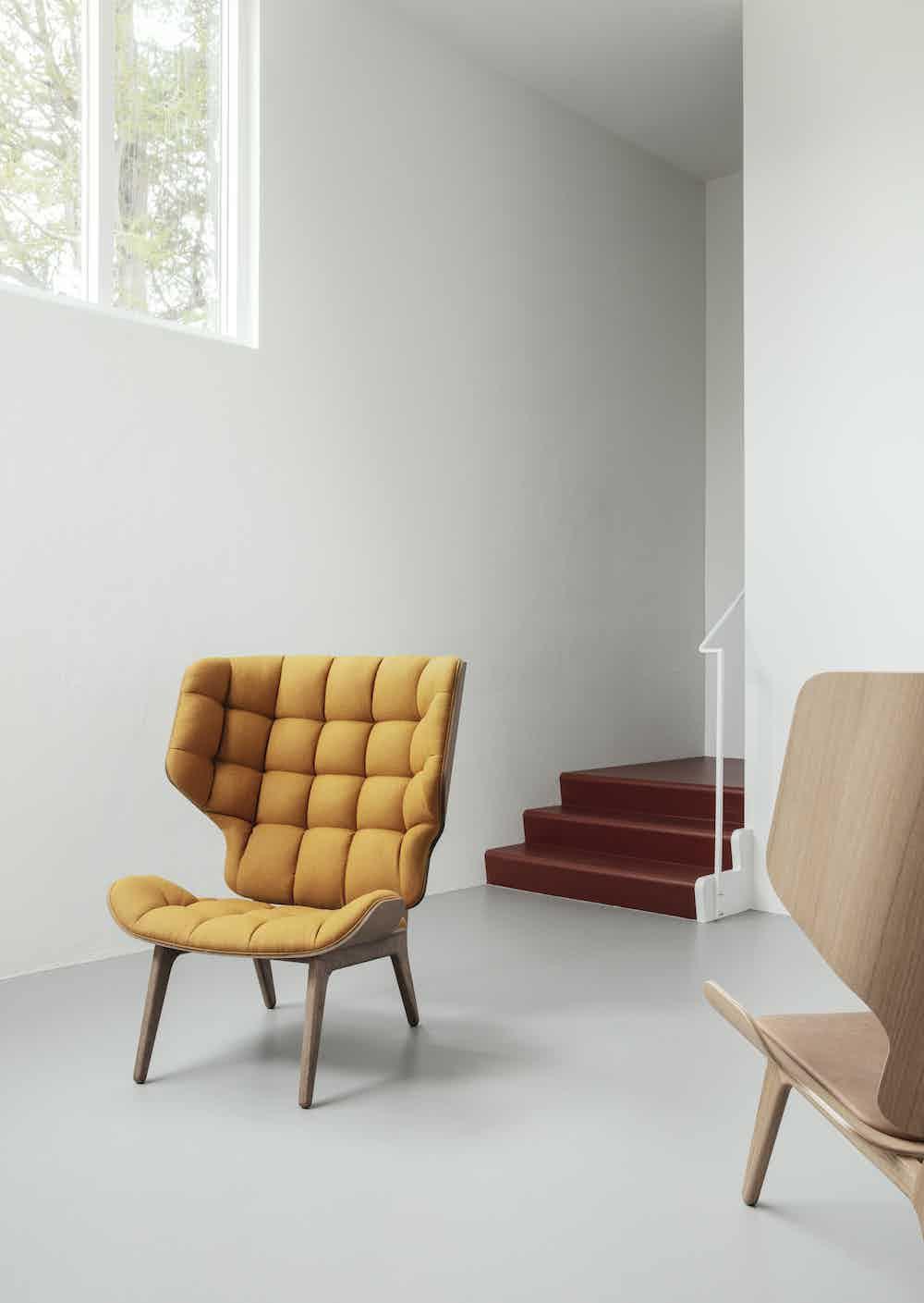 NORR11 mammoth chair insitu yellow haute living