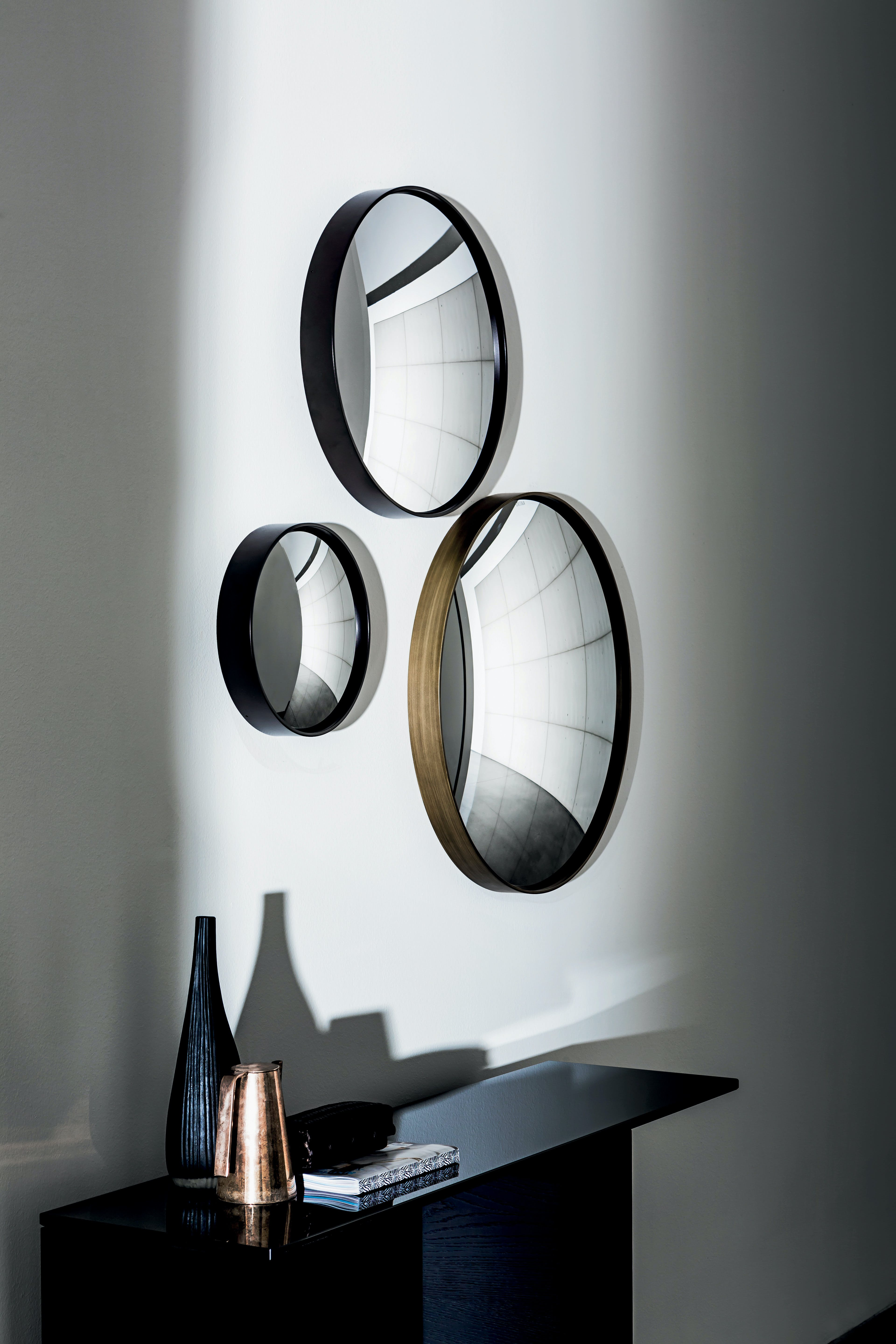 Sail Mirror With Lacquered Metal Frame By Sovet 4