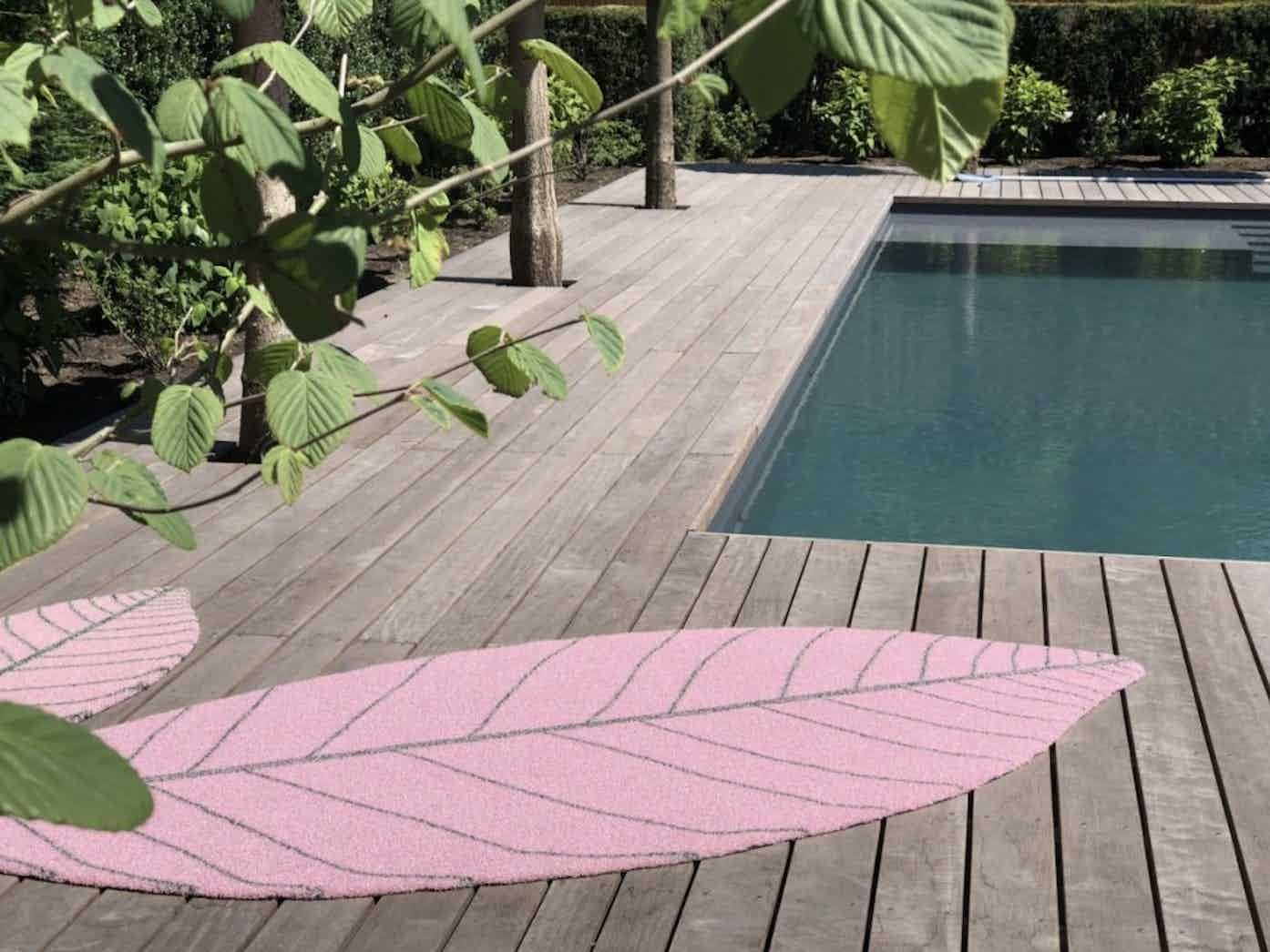"""Leaf is a uniquely fun design which has an indoor """"textile"""" appearance, but the characteristics suited to outdoor use. This design by CS Rugs is ideal for outdoor lounge areas, balconies, and terraces but also especially suitable for hotel purposes; for lobbies, spa areas, restaurants or roof top bars."""