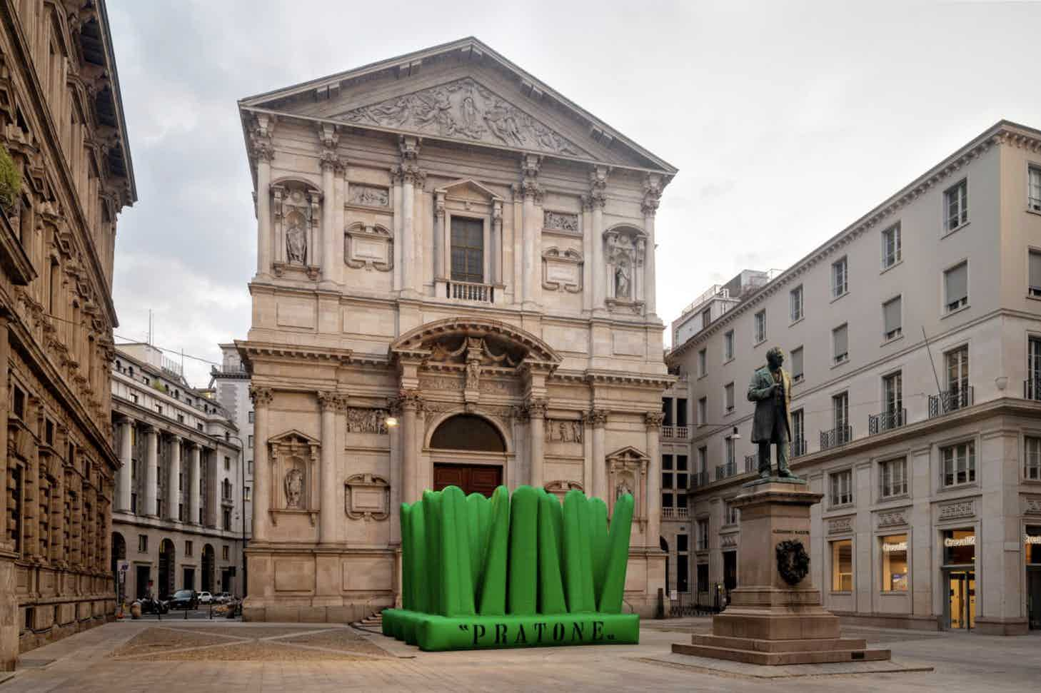 Super Pratone by Gufram Piazza San Fedele Photography Roberto Conte
