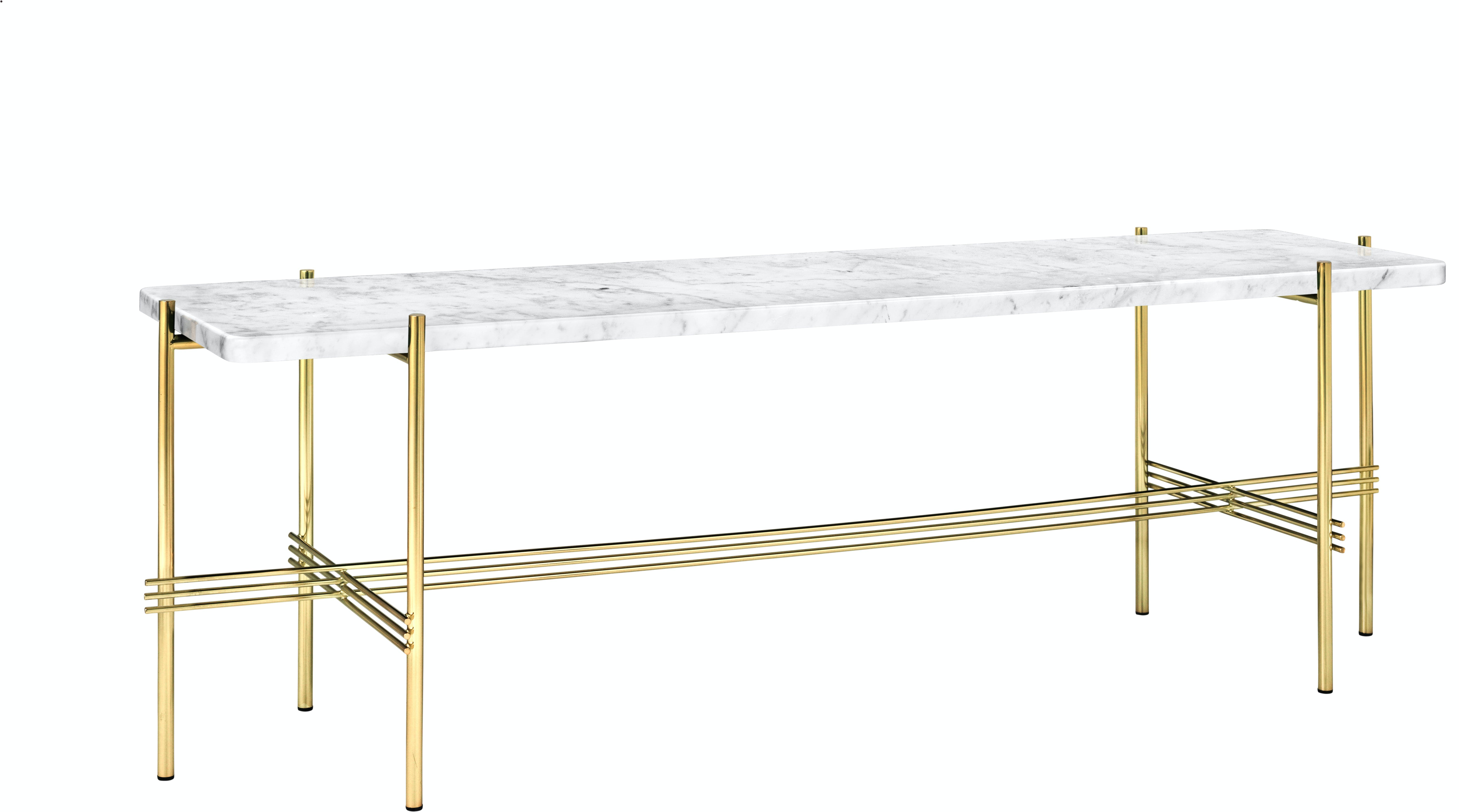 Ts Console 1 Rack Marble Brass White Angle