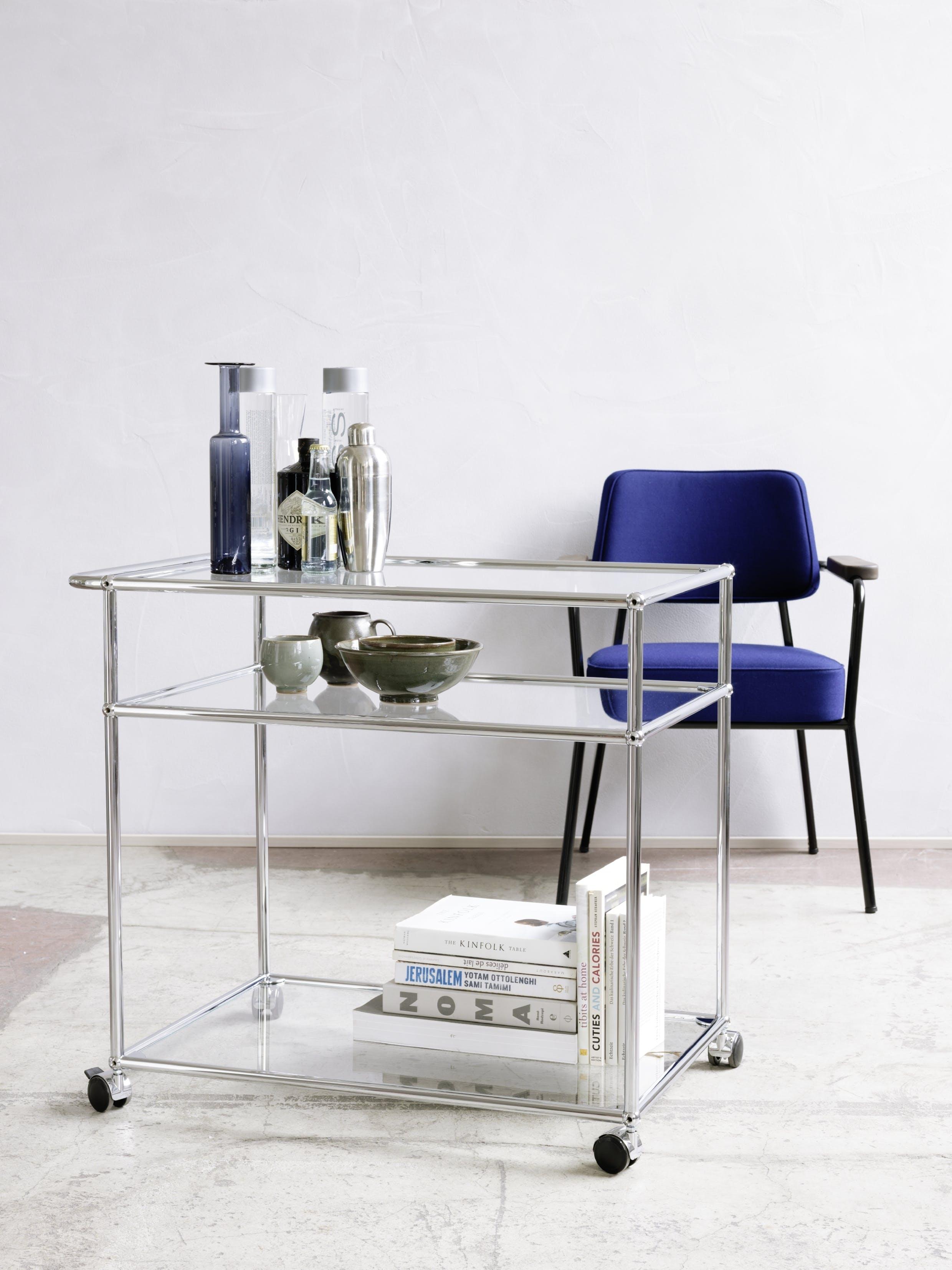 Usm Haller Serving Cart Glass Transparent 02 0013