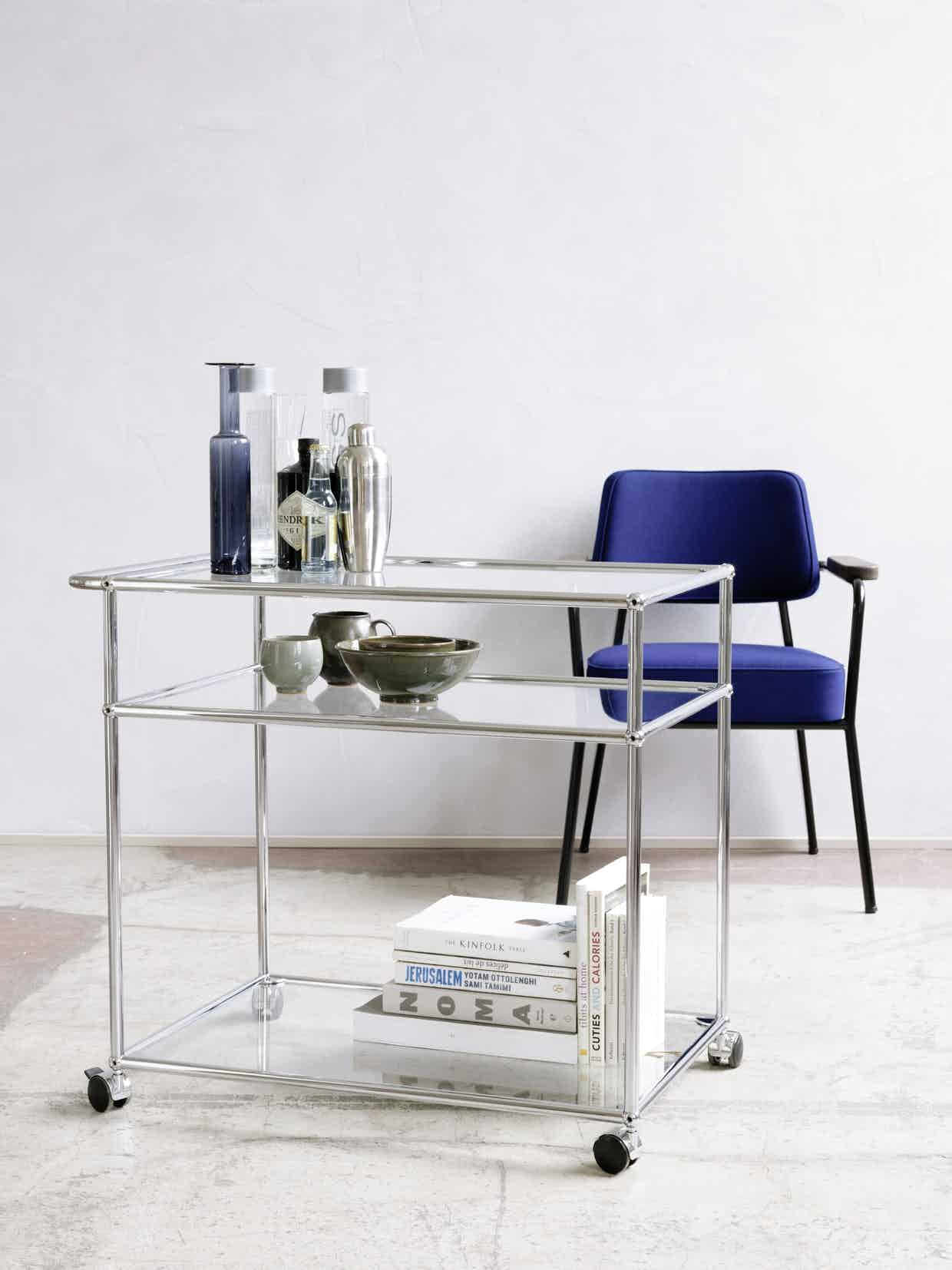 Usm Haller Serving Cart Glass Transparent 02 0013