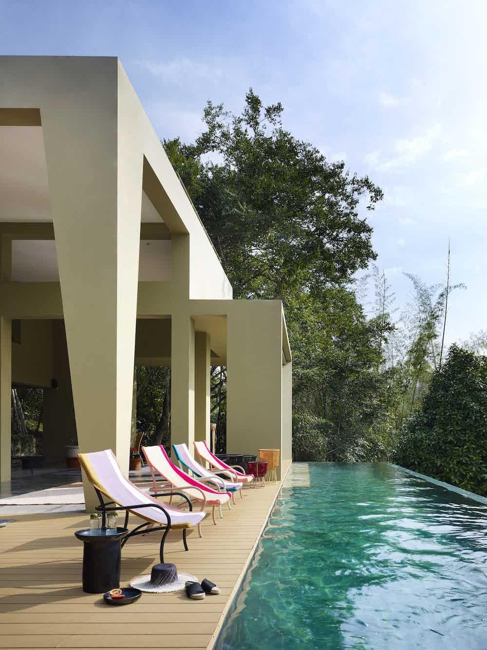 Ames furniture design maraca lounge chair haute living