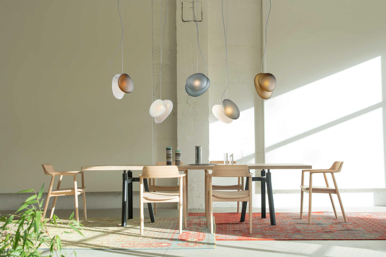 Andlight pebble pendant dining insitu haute living
