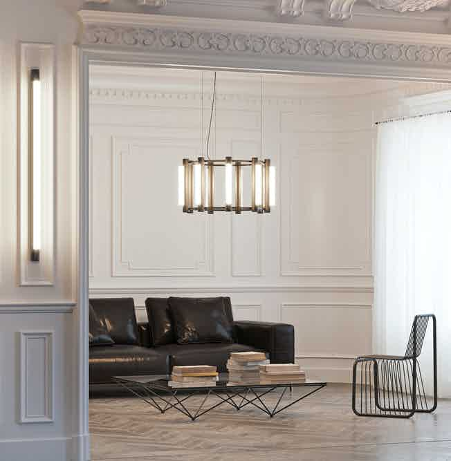Andlight pipeline chandelier 2 insitu haute living