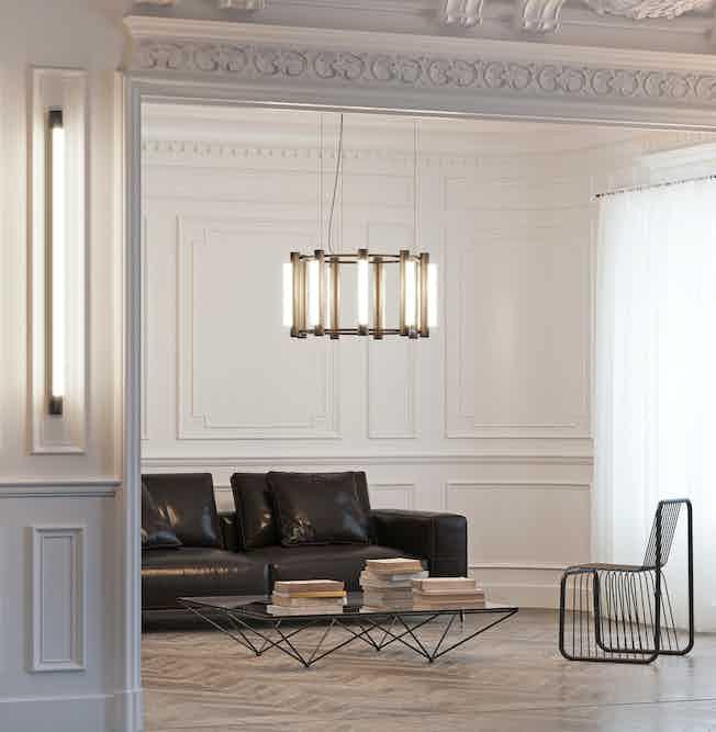 Andlight pipeline chandelier 2 insitu haute living