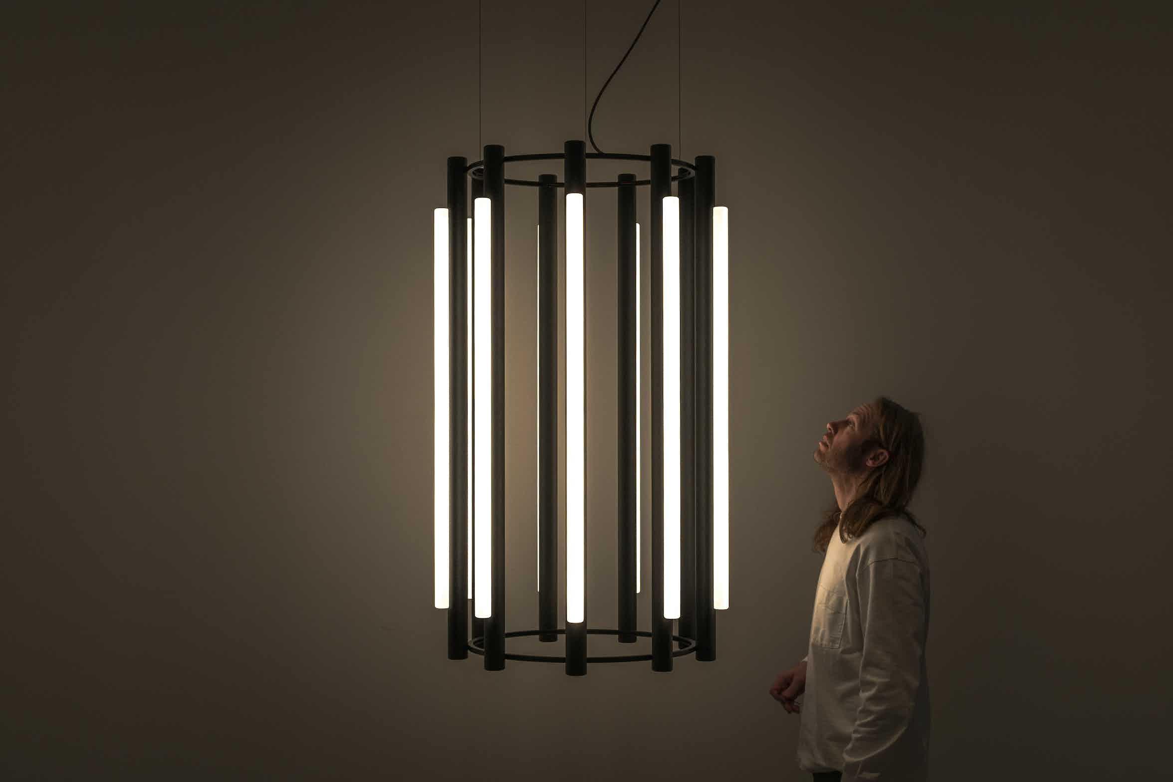 Andlight pipeline chandelier 5 pendant insitu caine haute living