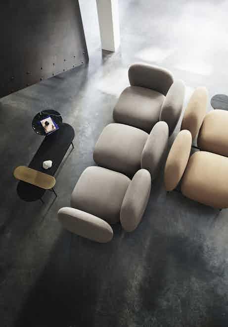 Andtradition isole sofa insitu overhead haute living