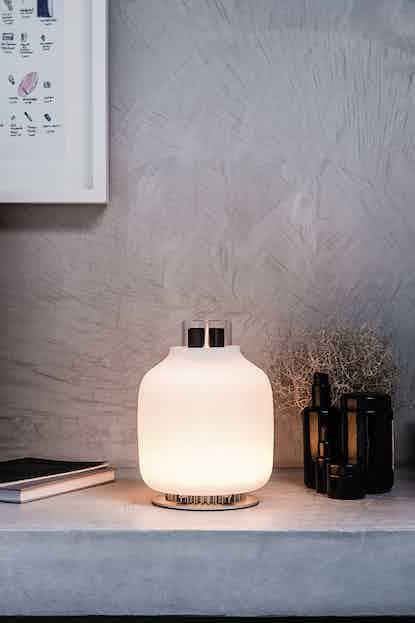 Astep lighting candela table lamp lit insitu haute living