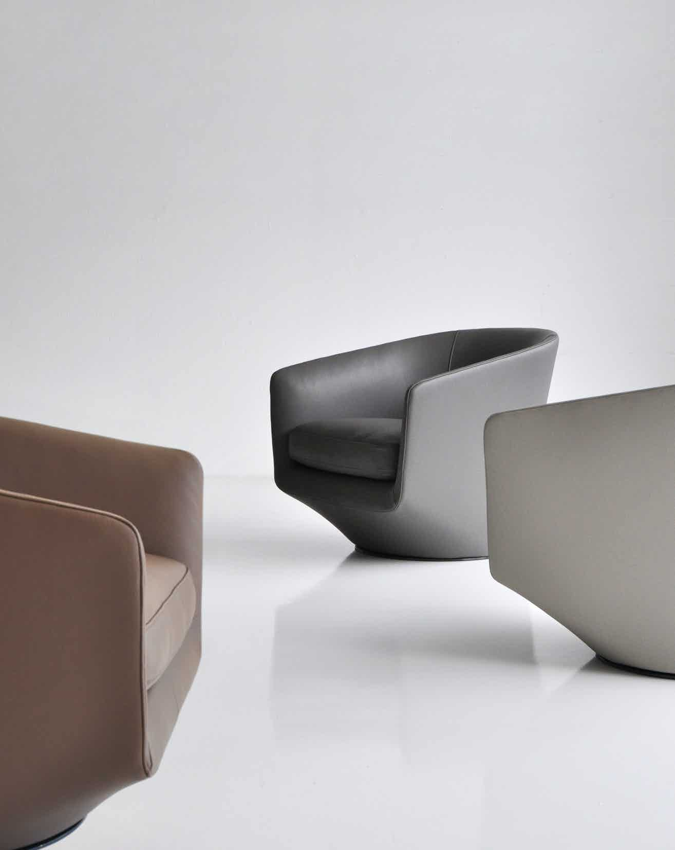 Bensen u turn chair trio detail haute living