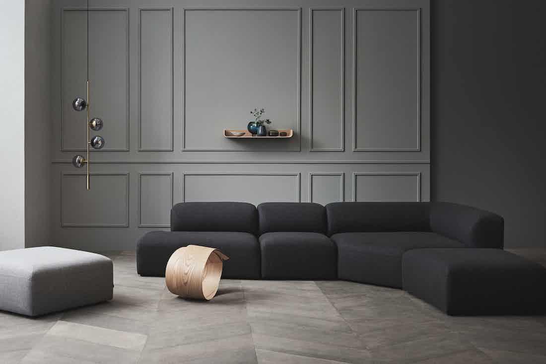 Bolia angle modular sofa navy insitu haute living
