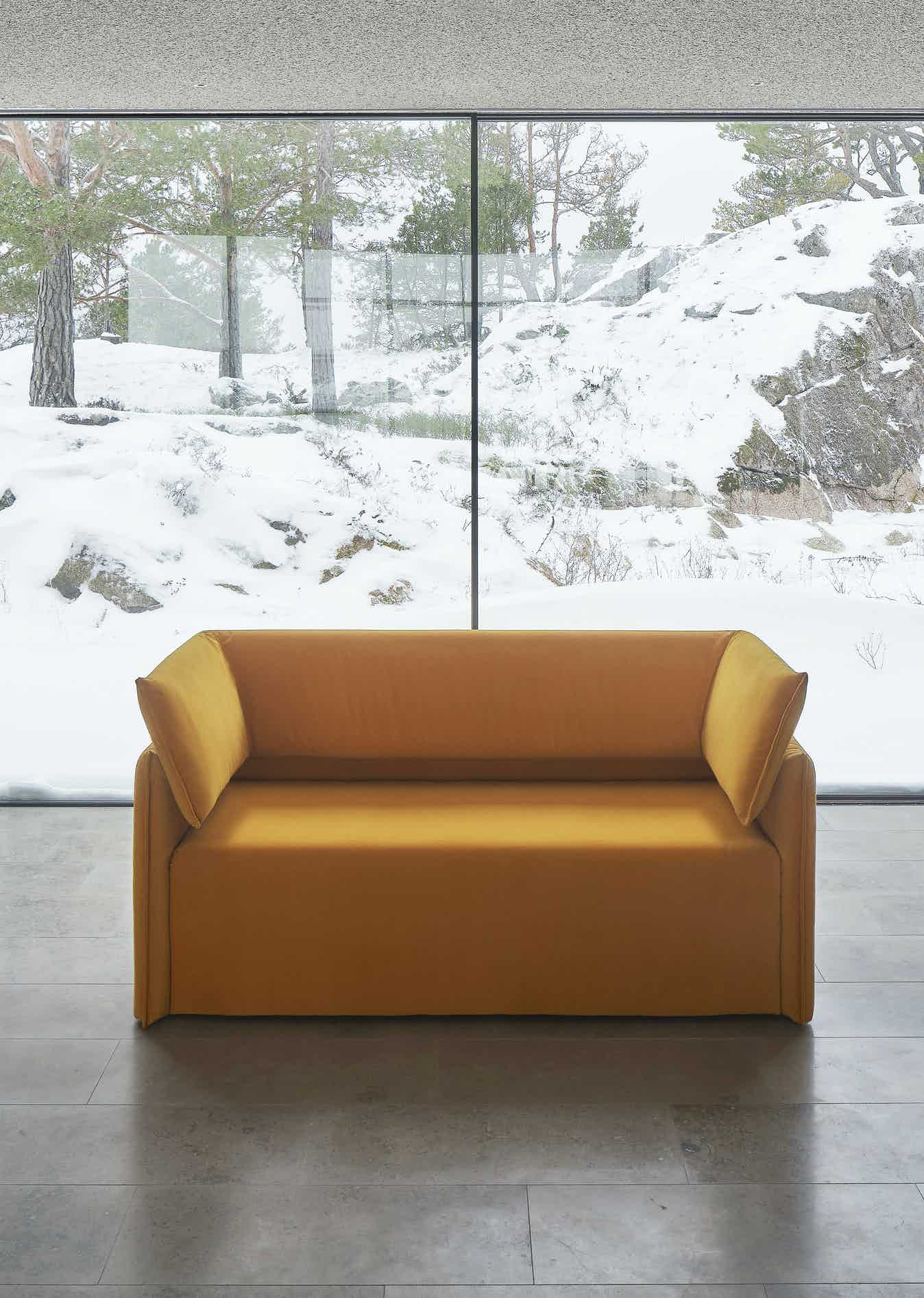 Boxlike sofa by articles neocon haute living