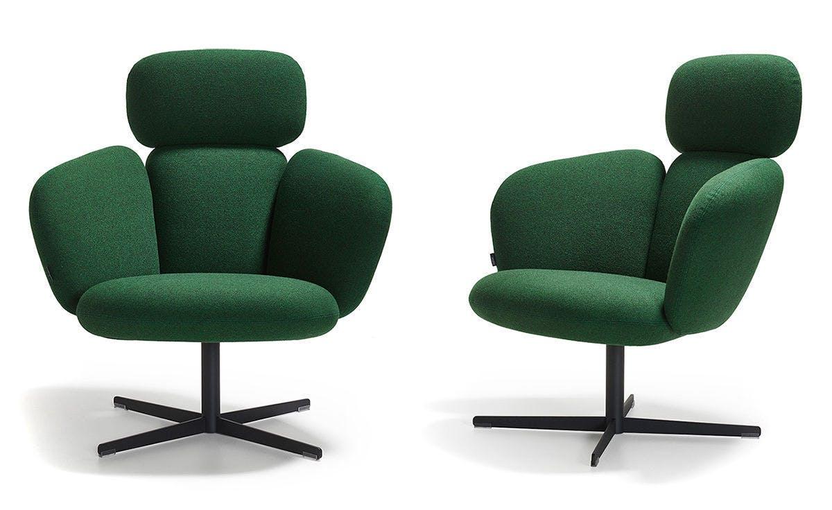 Bras Highback Swivel Base Lounge Chair Khodi Feiz Artifort 3