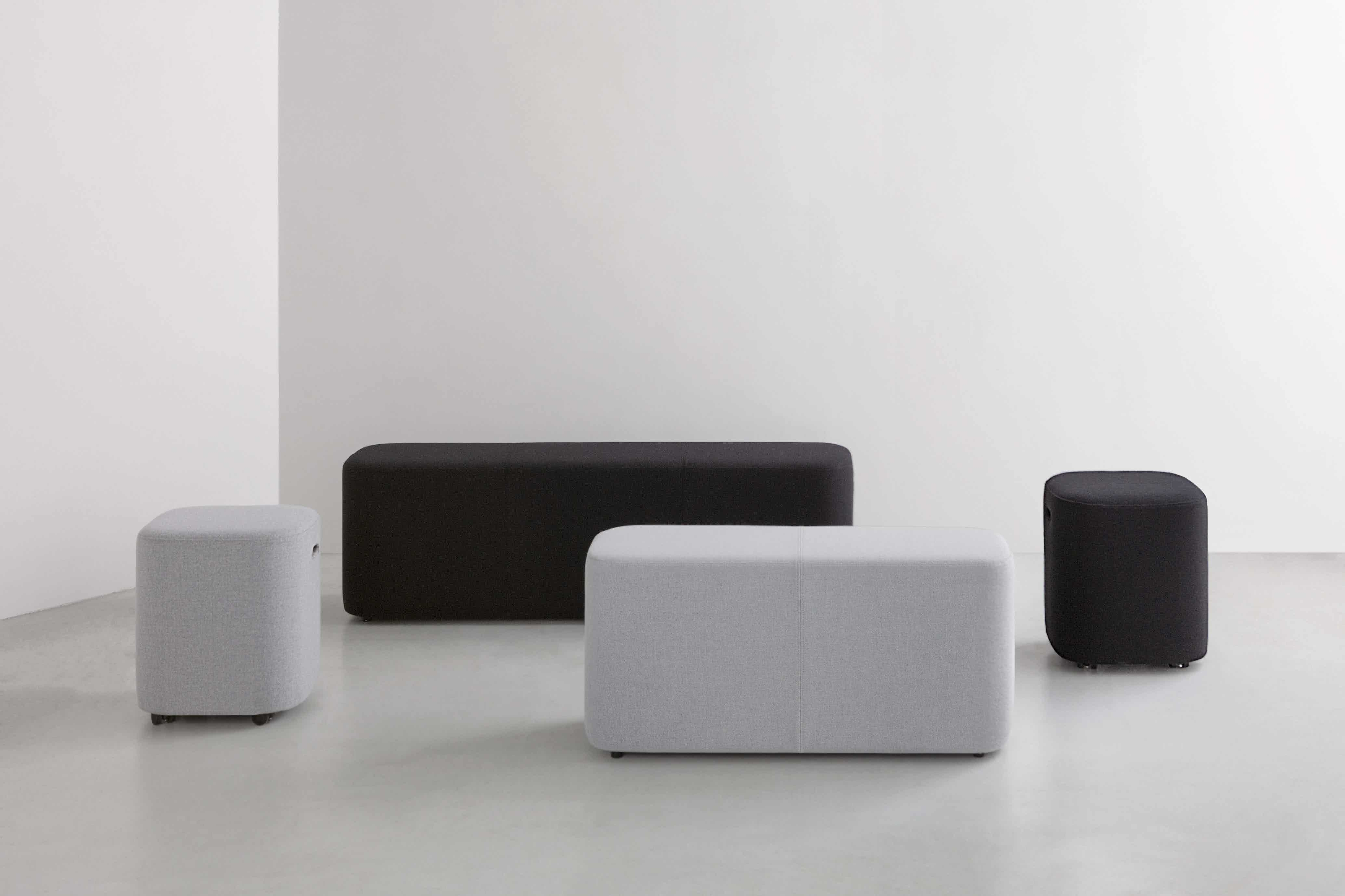 By interiors loafer bench group haute living
