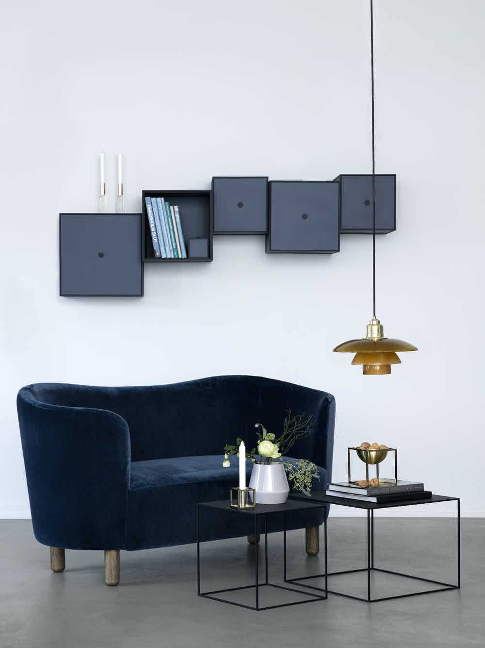 By lassen mingle sofa blue velvet insitu haute living