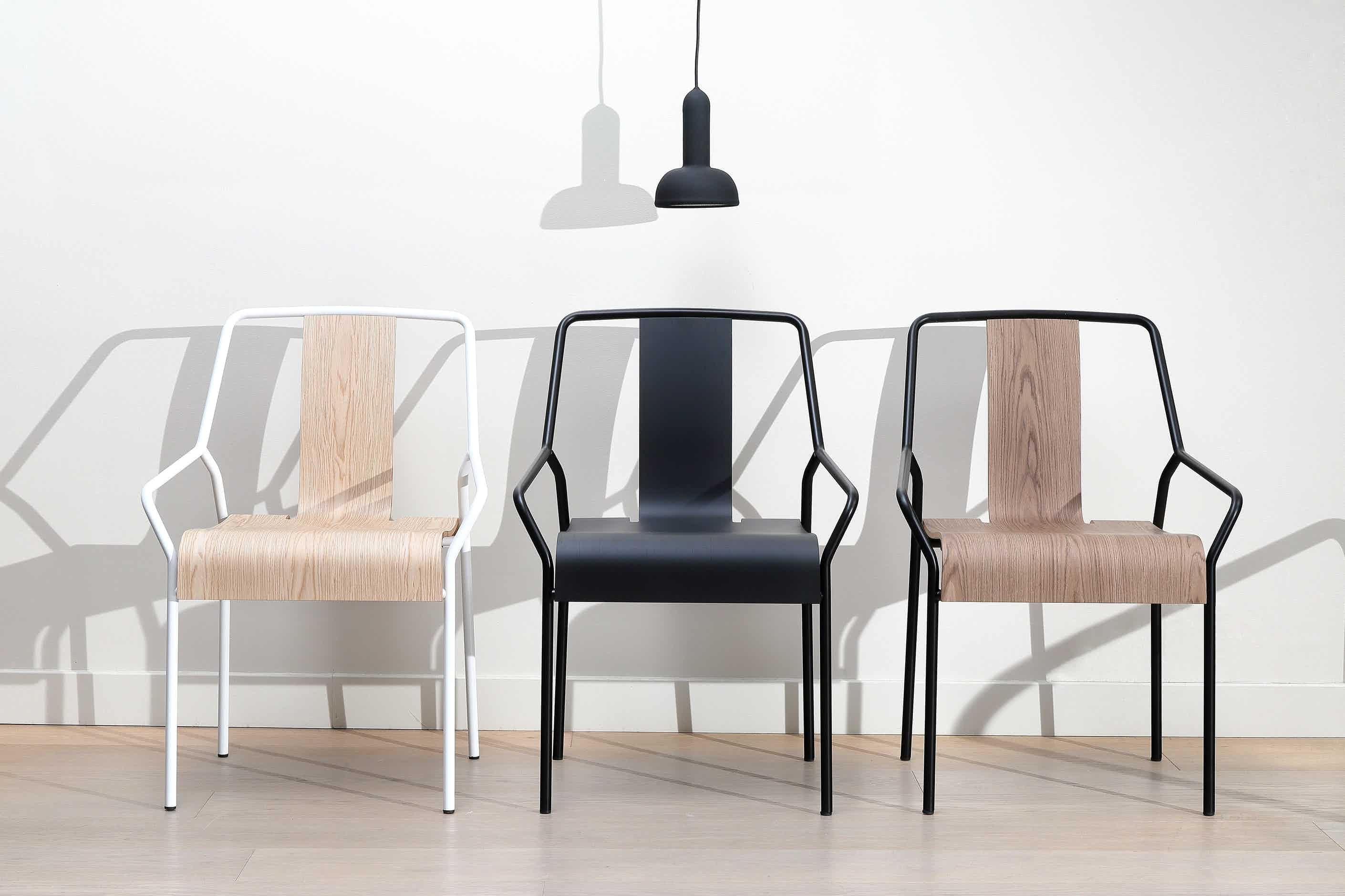 Coedition dao chair oak and black insitu 2 haute living