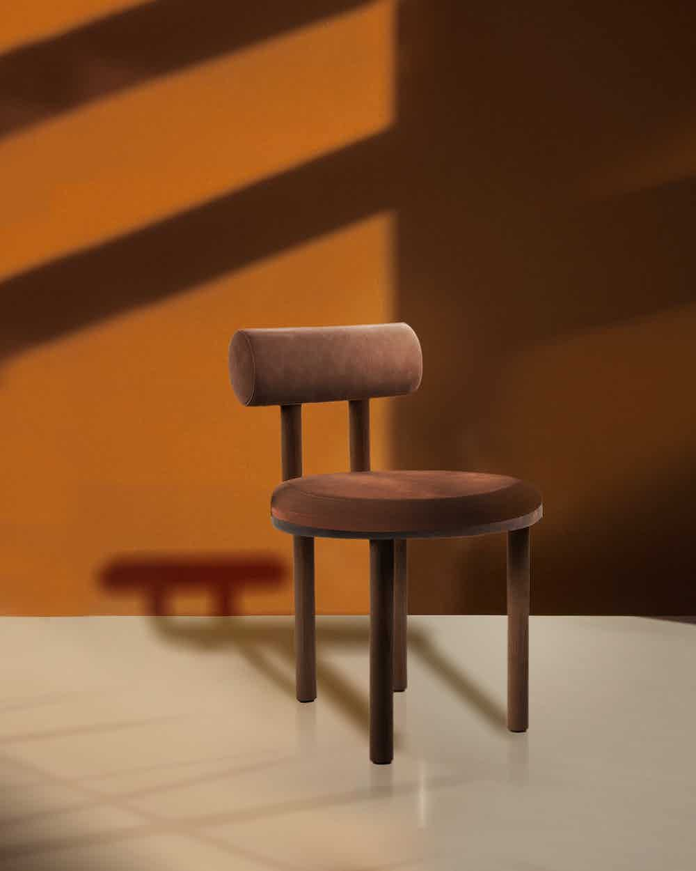 Collector furniture moca chair orange insitu haute living