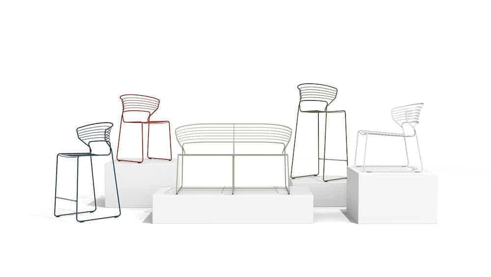 Desalto koki wire chair stool sofa 7