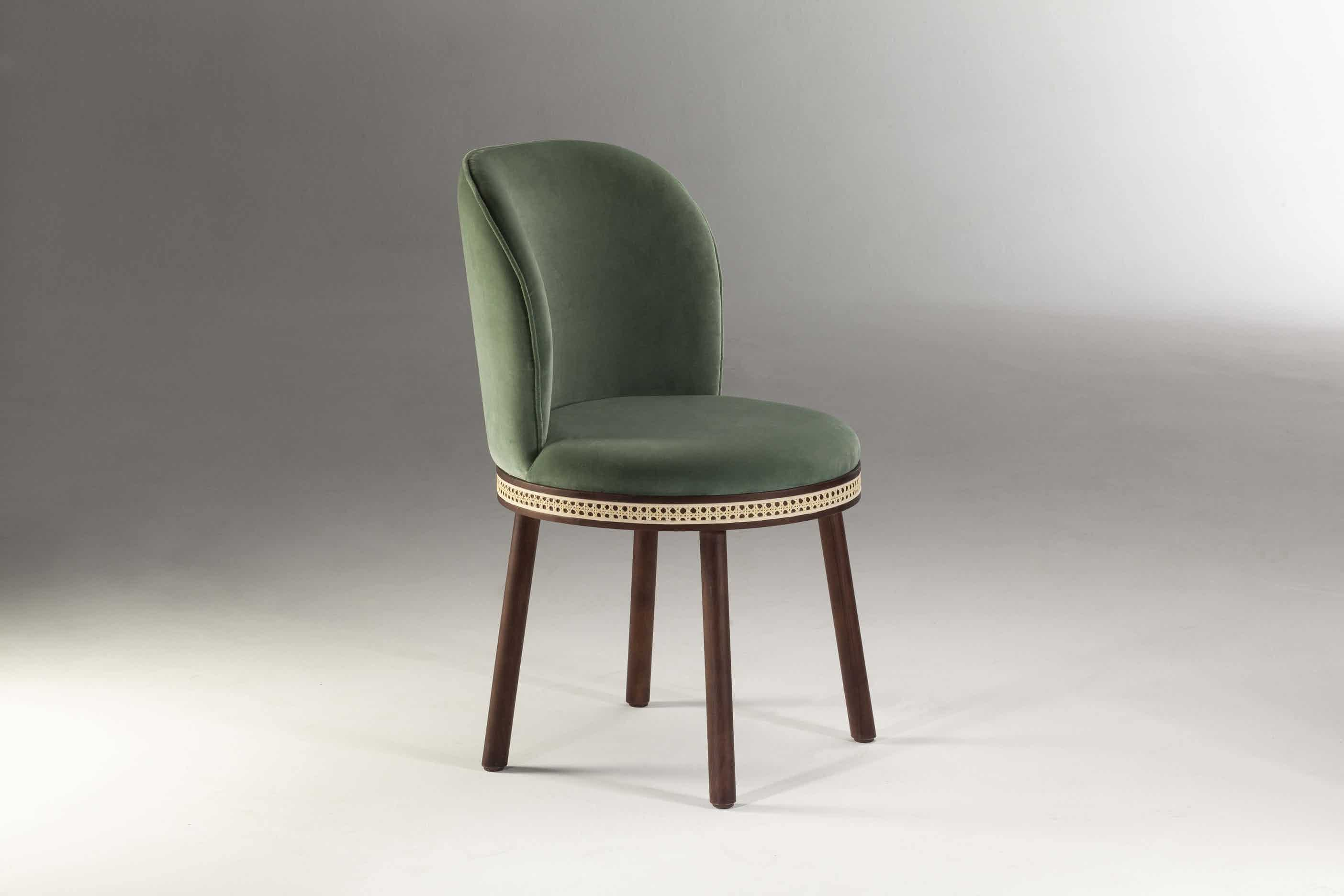Dooq alma chair green haute living