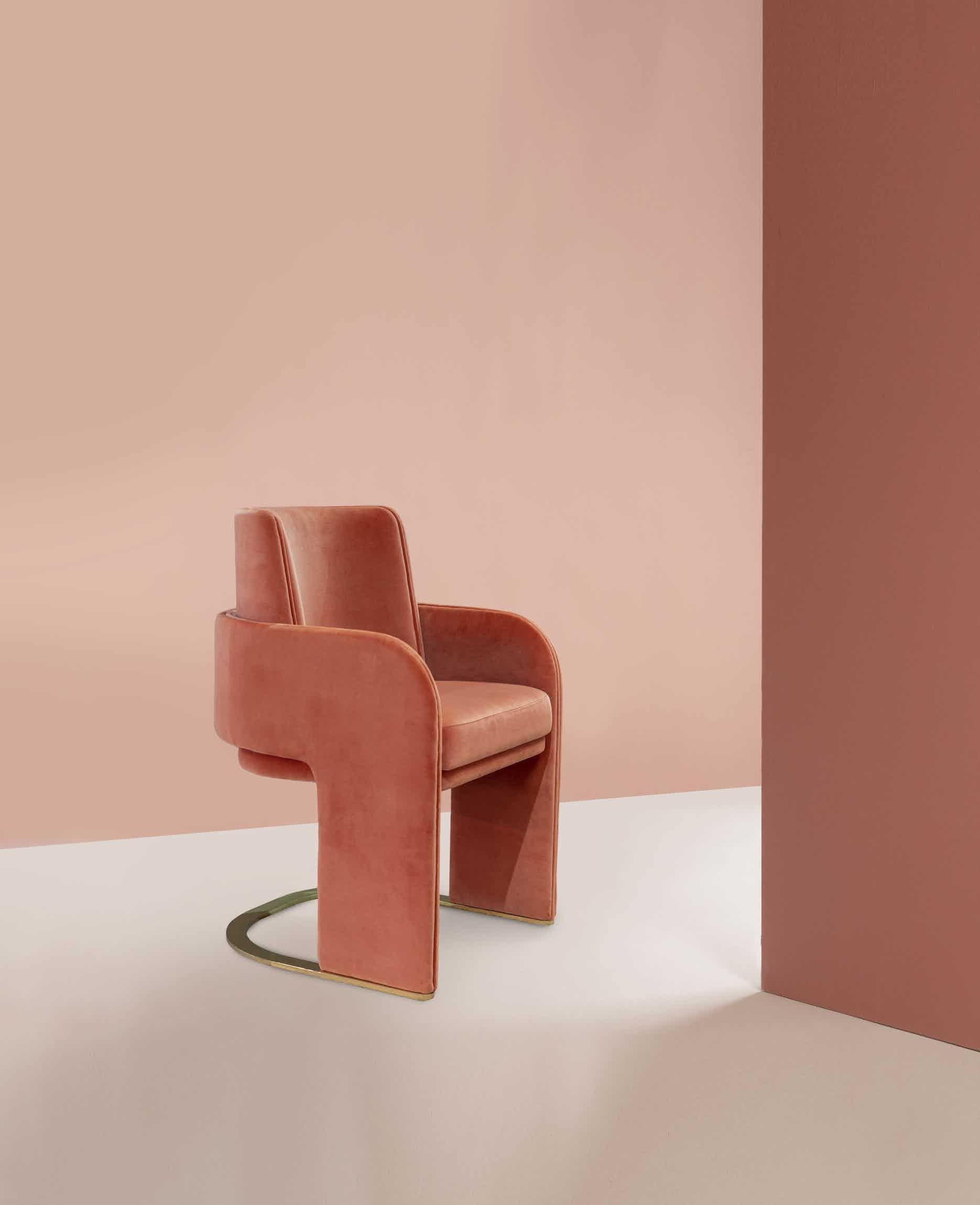 Dooq odisseia chair pink haute living