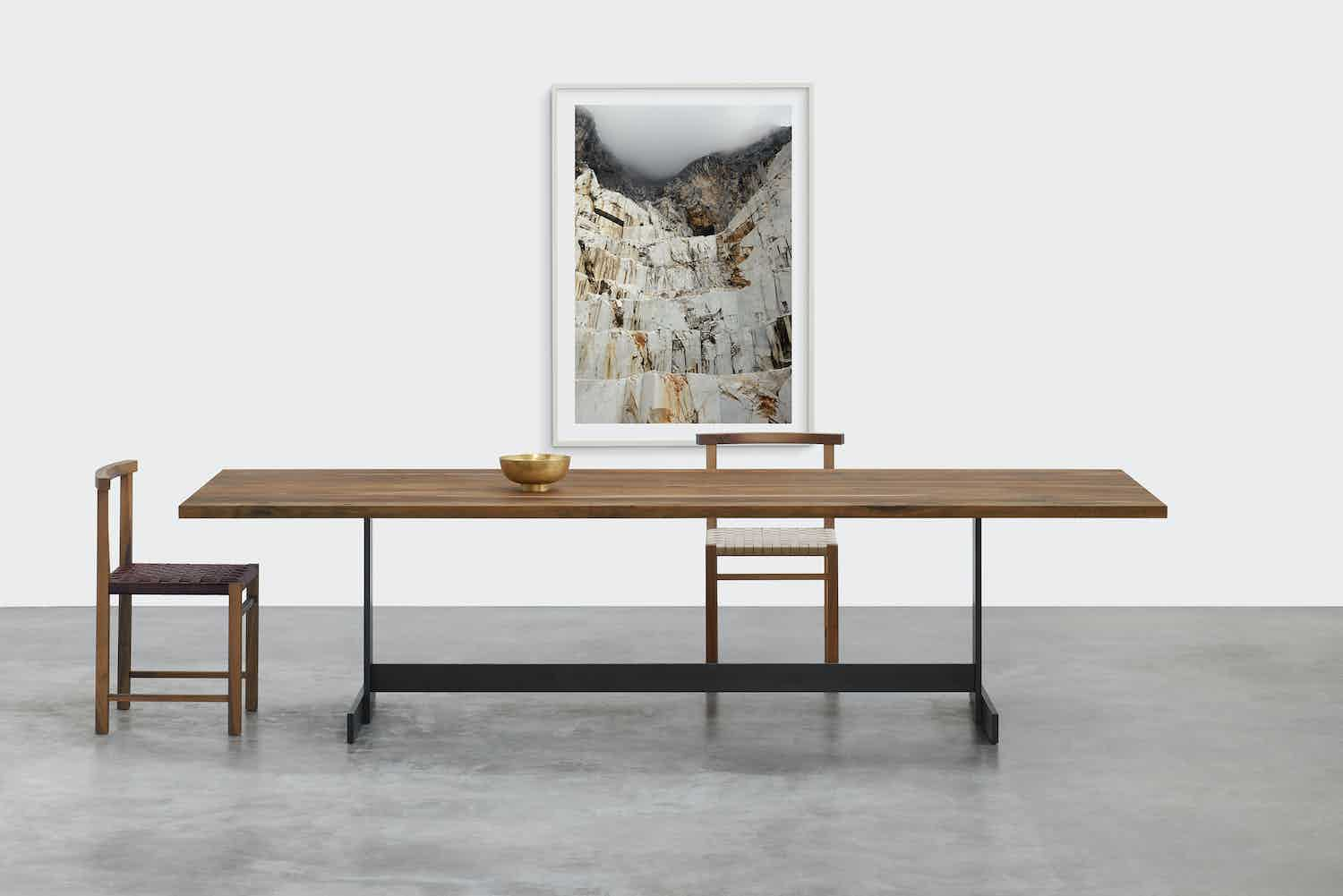 E15 furniture kazimir table with chair haute living