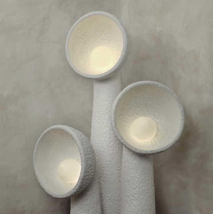 Faina design soniah small floor lamp white detail haute living