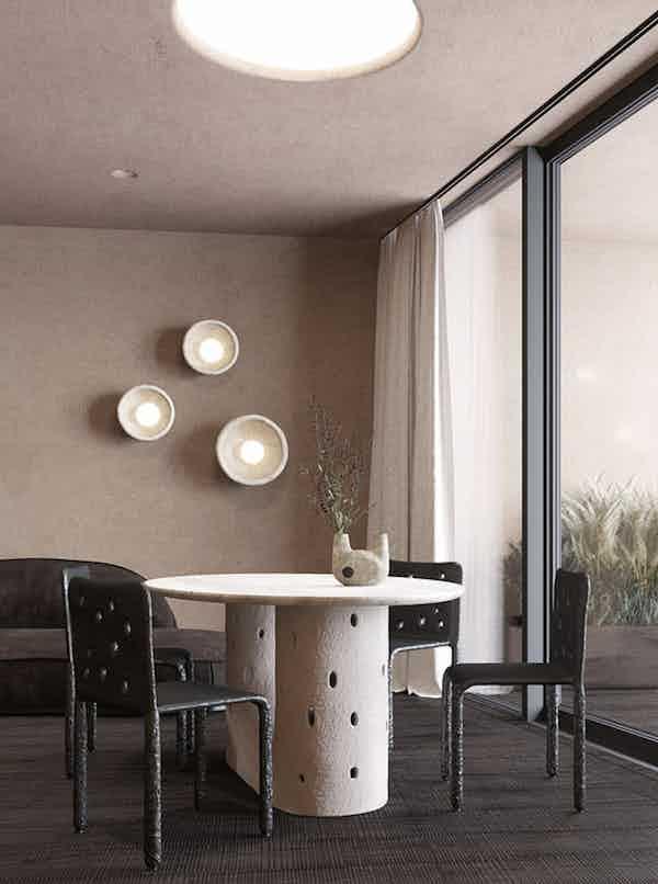 Faina design ztista oval table insitu haute living