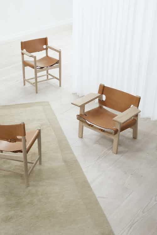 Fredericia furniture the spanish chair natural insitu trio haute living