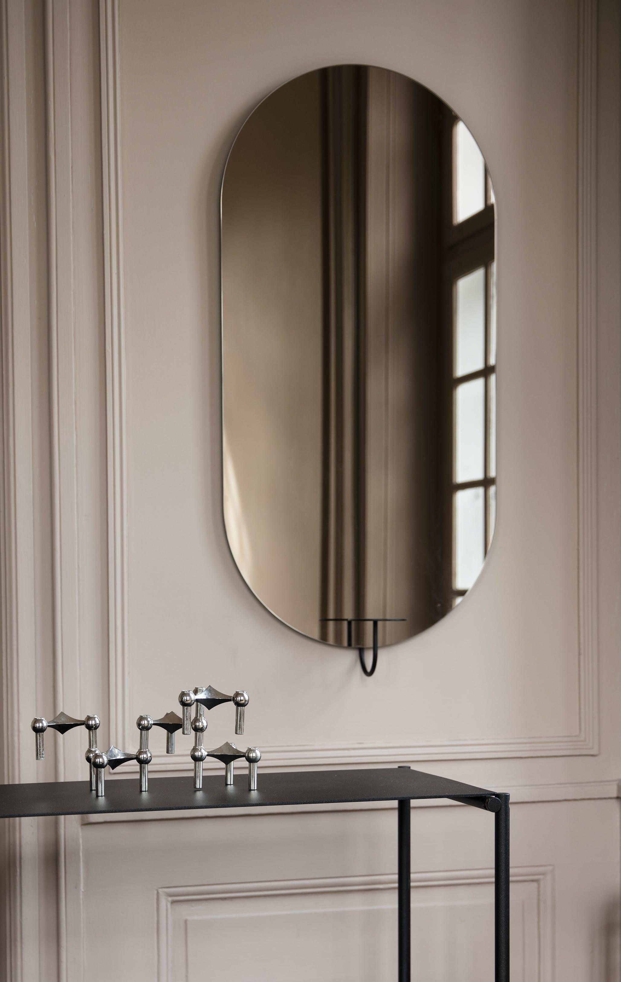 Friends Founders Bronze Oval Mirror Insitu Haute Living