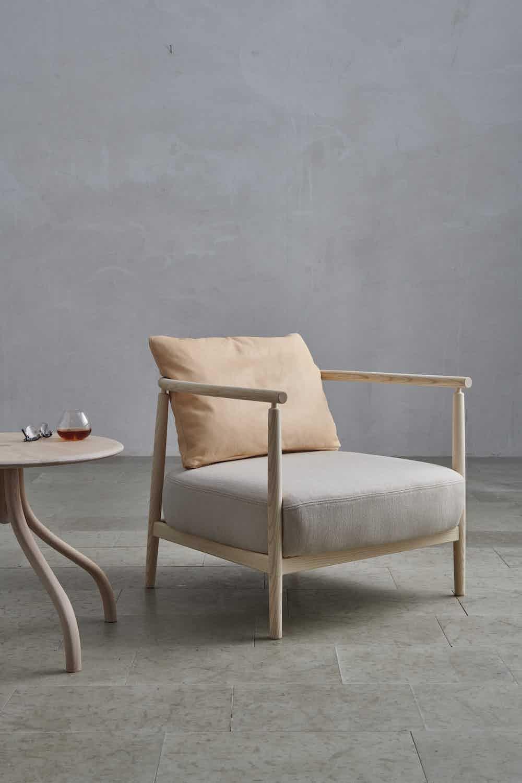 Gemla humble armchair natural grey insitu haute living