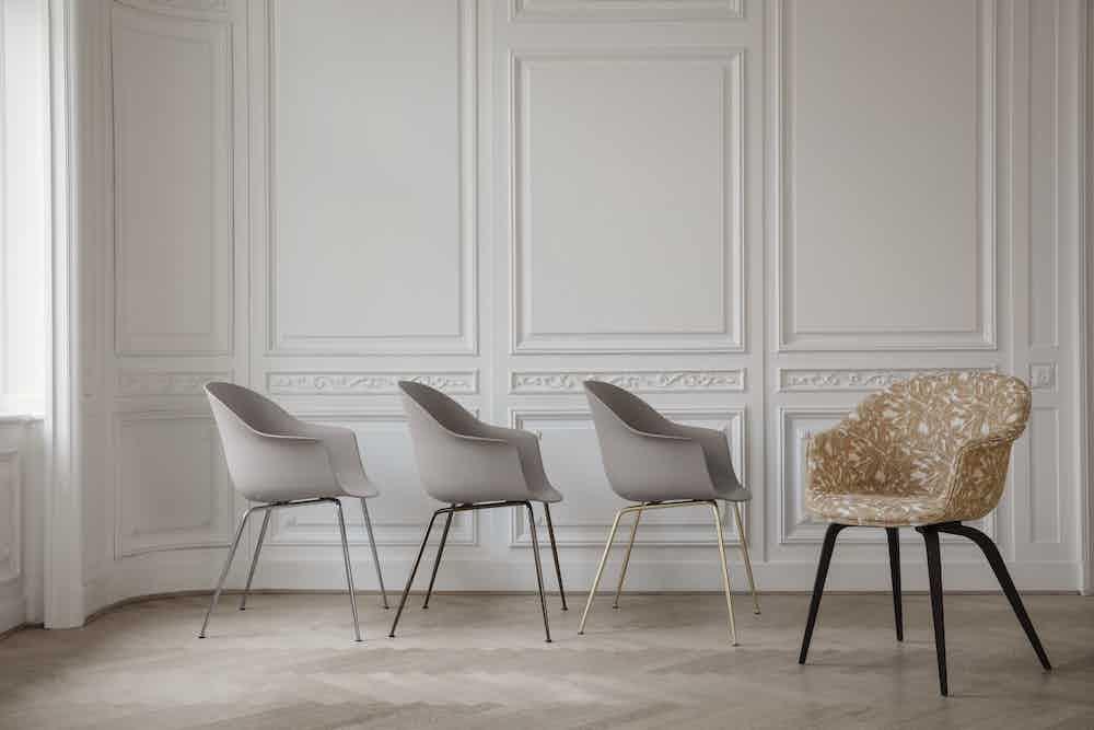 Gubi bat dining chair haute living