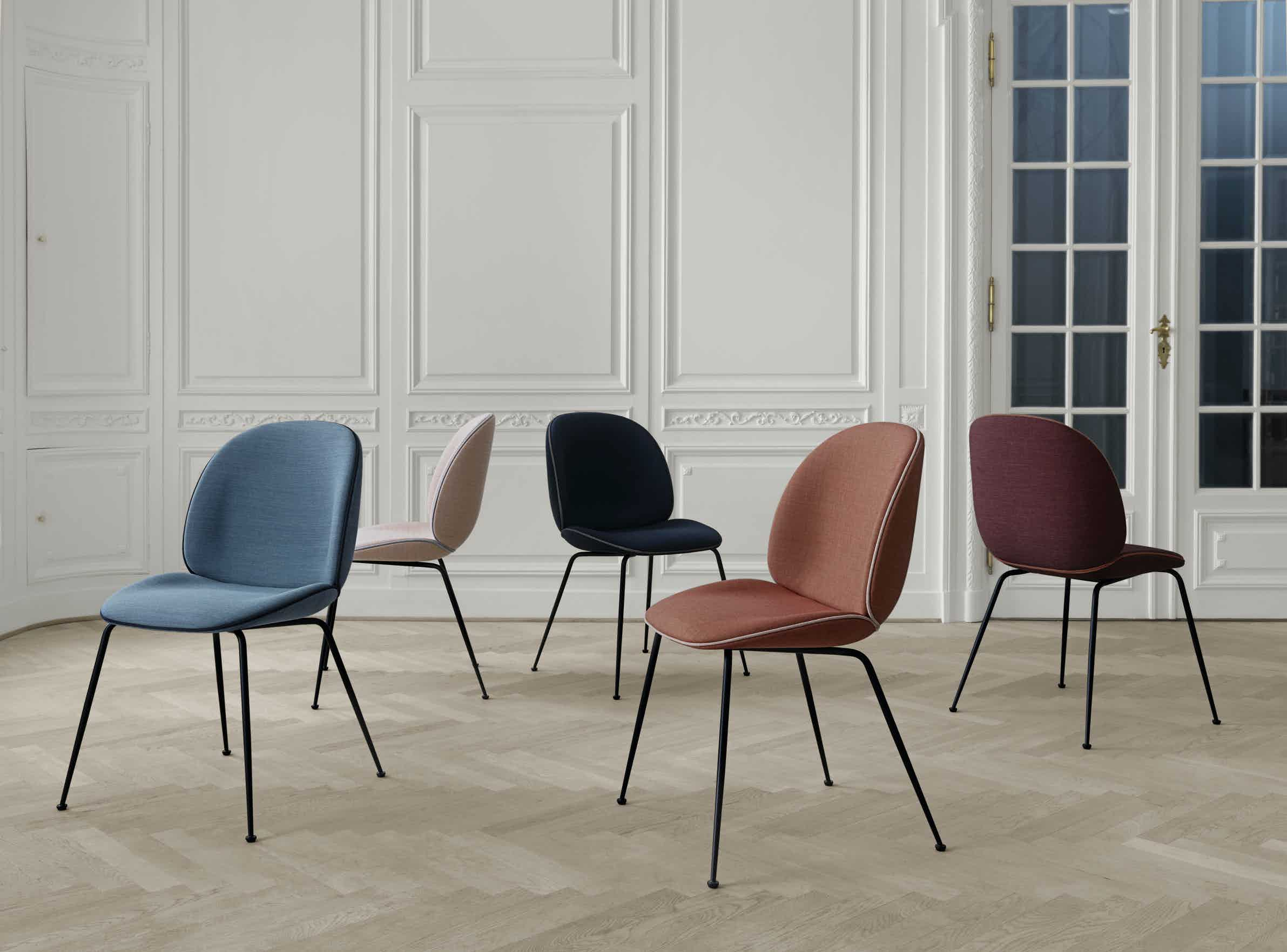 Gubi beetle chair insitu cluster haute living