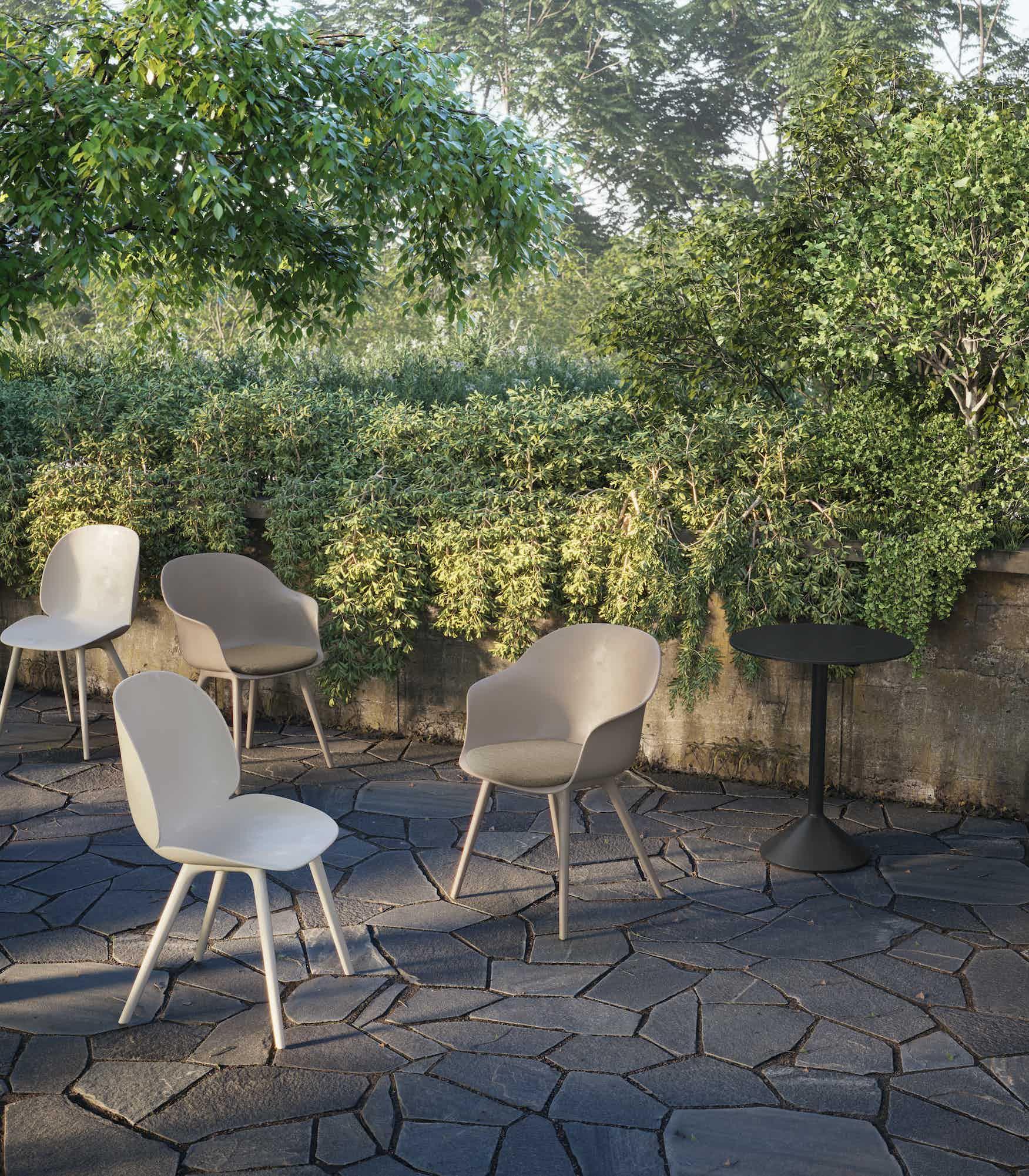 Gubi beetle outdoor chair insitu haute living