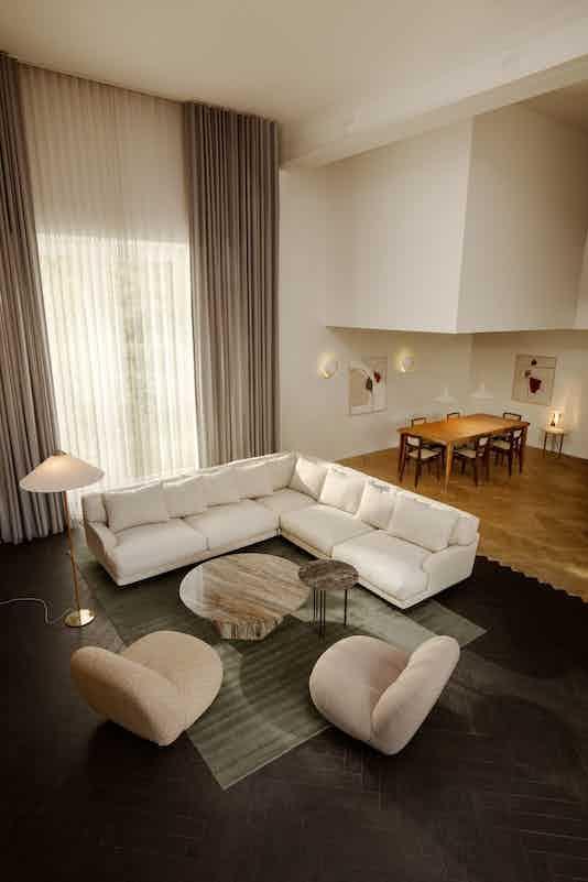 Gubi flaneur sofa insitu modular haute living