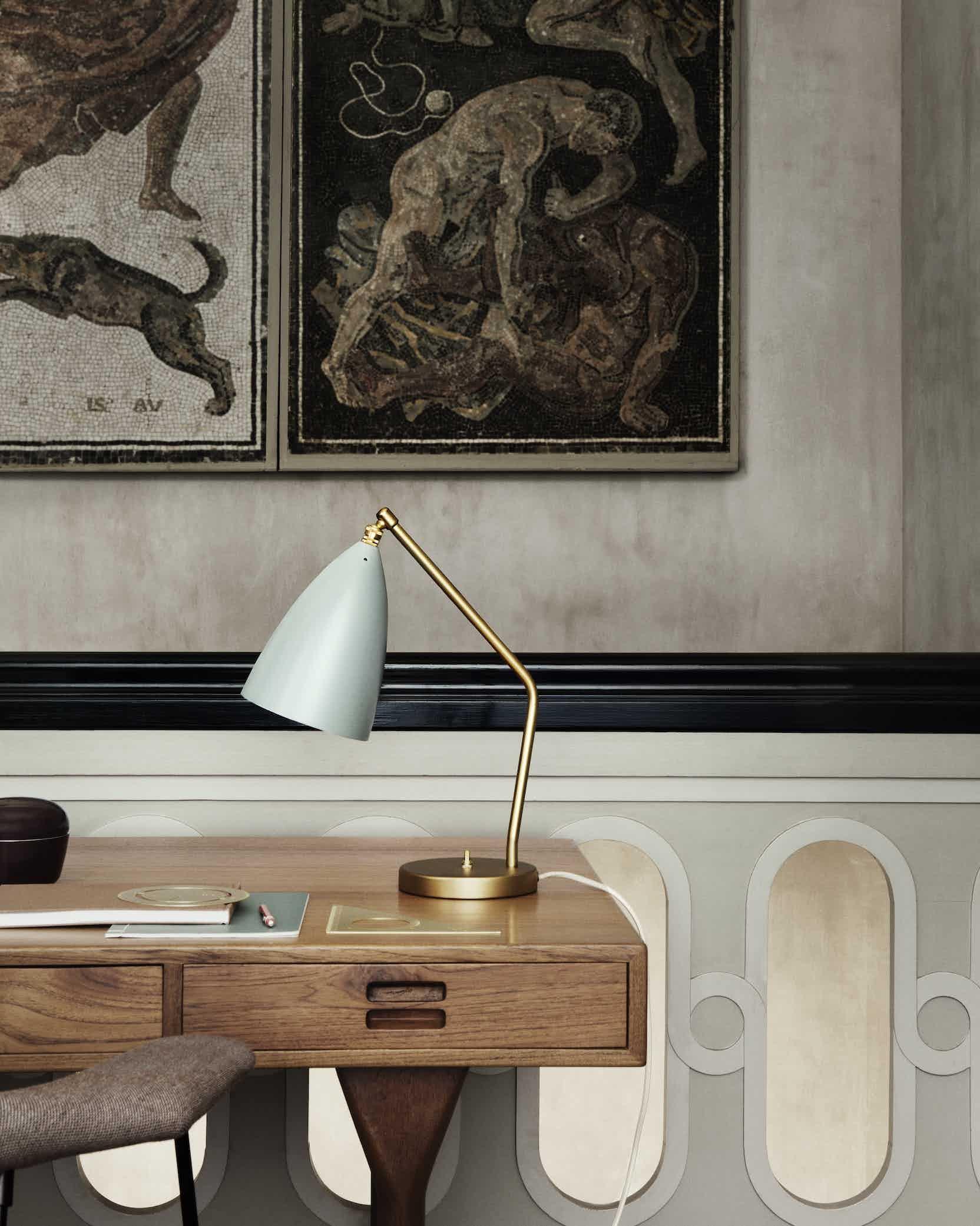 Gubi grashoppa table lamp insitu haute living
