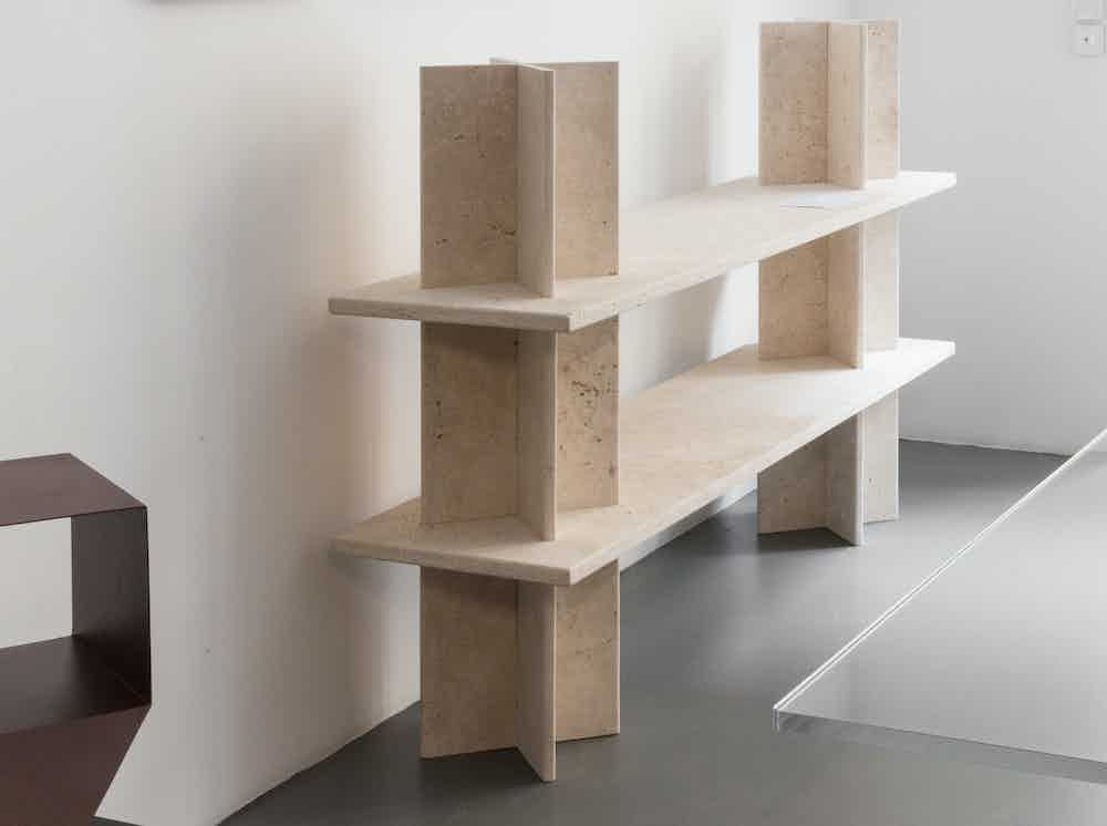 La chance furniture monument shelving system cream insitu haute living