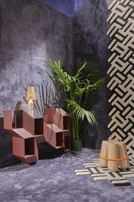 La chance furniture rocky credenza red insitu haute living