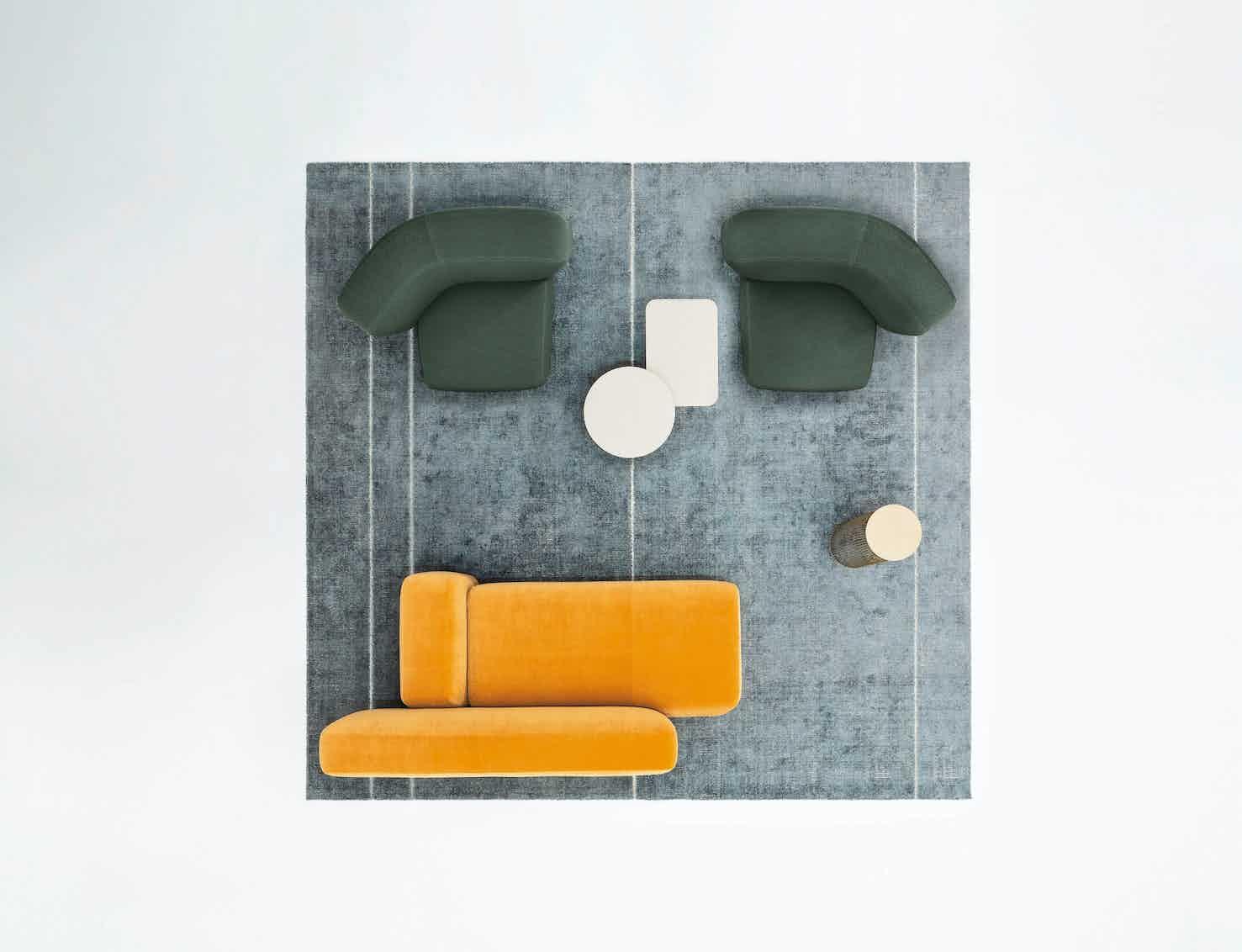 La cividina suiseki sofa aerial insitu haute living