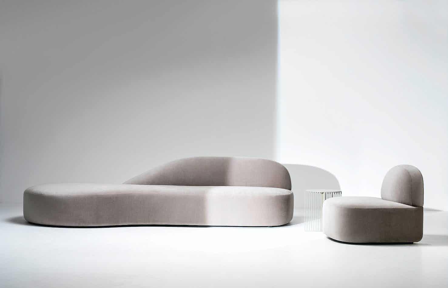 Lacividina guest sofa white haute living