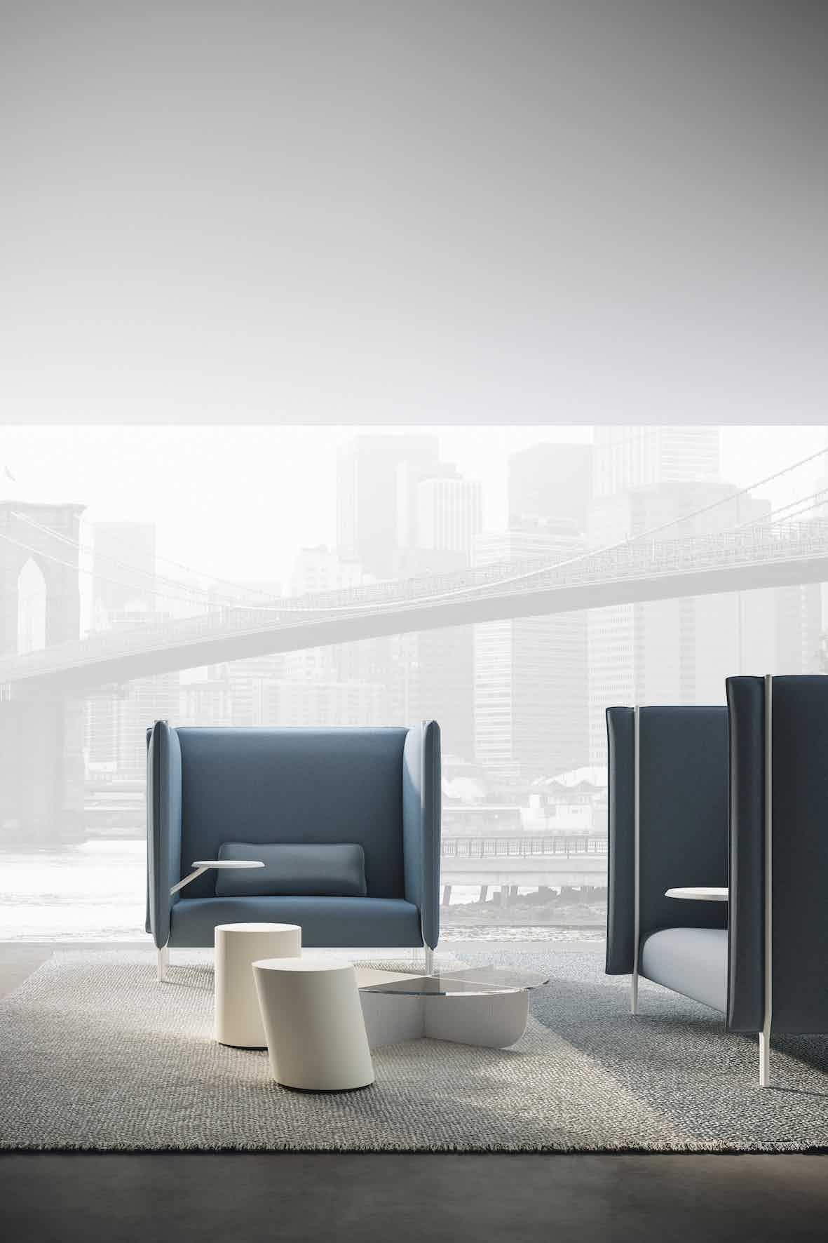 Lacividina pinch sofa small blue haute living