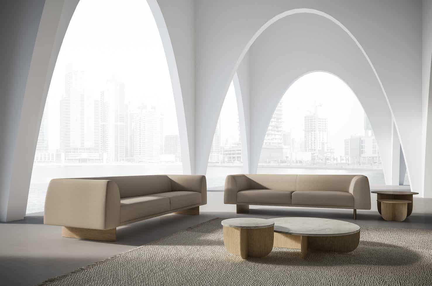 Lacividina tailor sofa tan arches haute living
