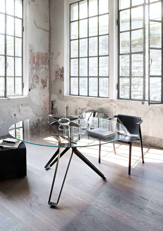 Lema furniture 3 pod dining table round insitu haute living
