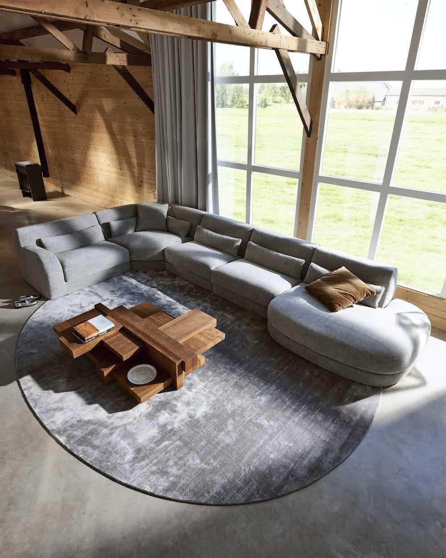 Linteloo bold sofa insitu aerial haute living